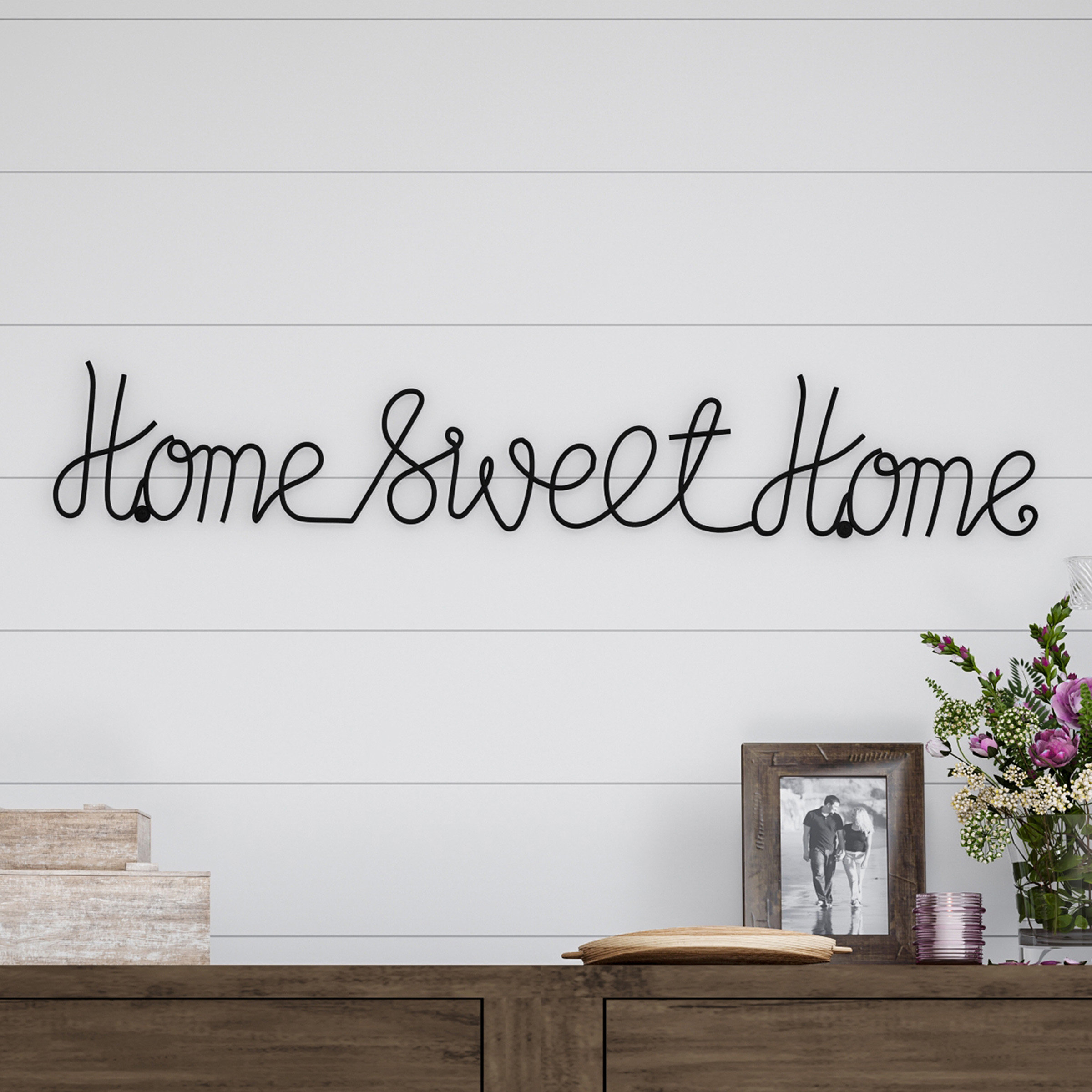 Home Sweet Home Metal Wall Décor Pertaining To Laser Engraved Home Sweet Home Wall Decor (View 6 of 30)