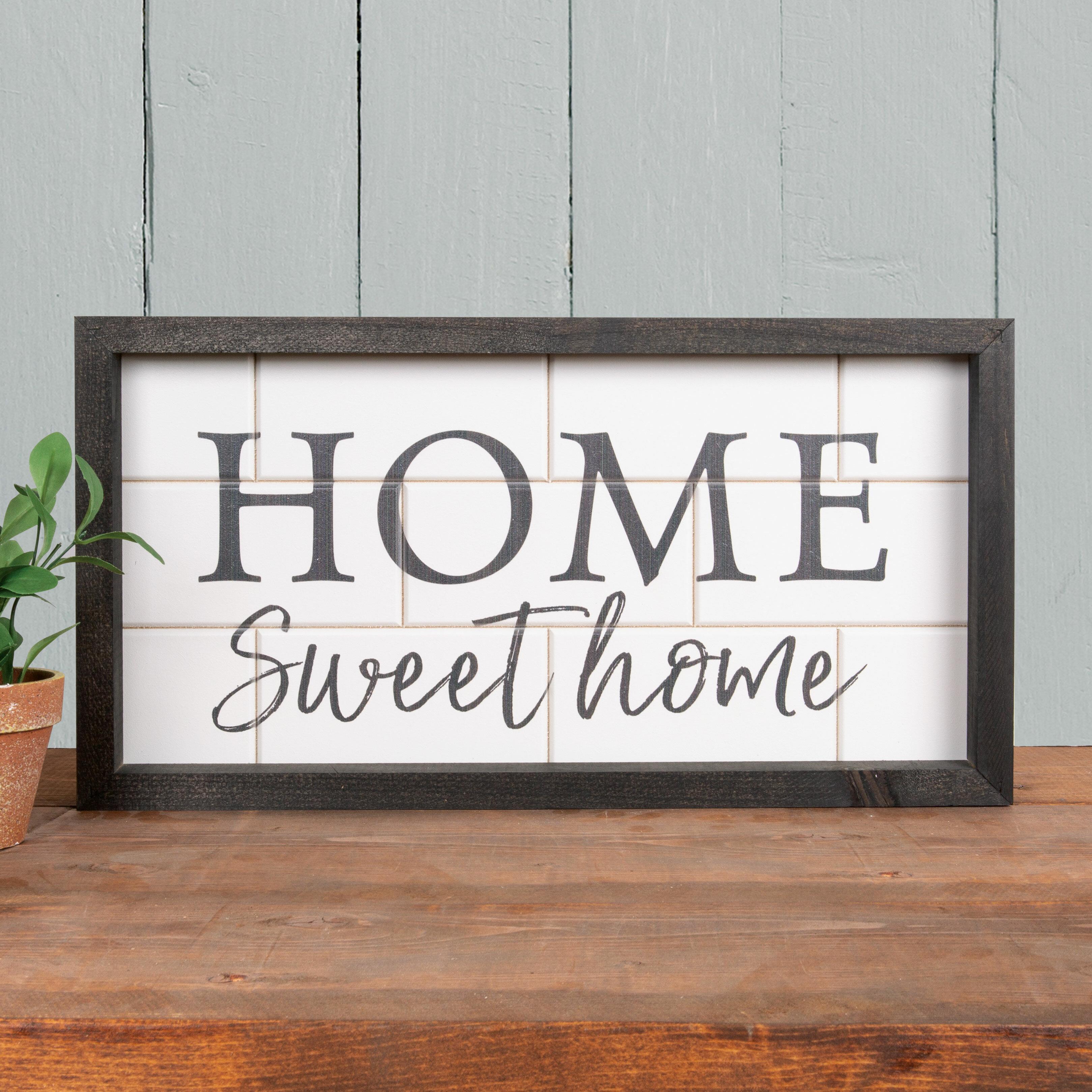 Home Sweet Home Wall Decor   Wayfair For Laser Engraved Home Sweet Home Wall Decor (View 12 of 30)