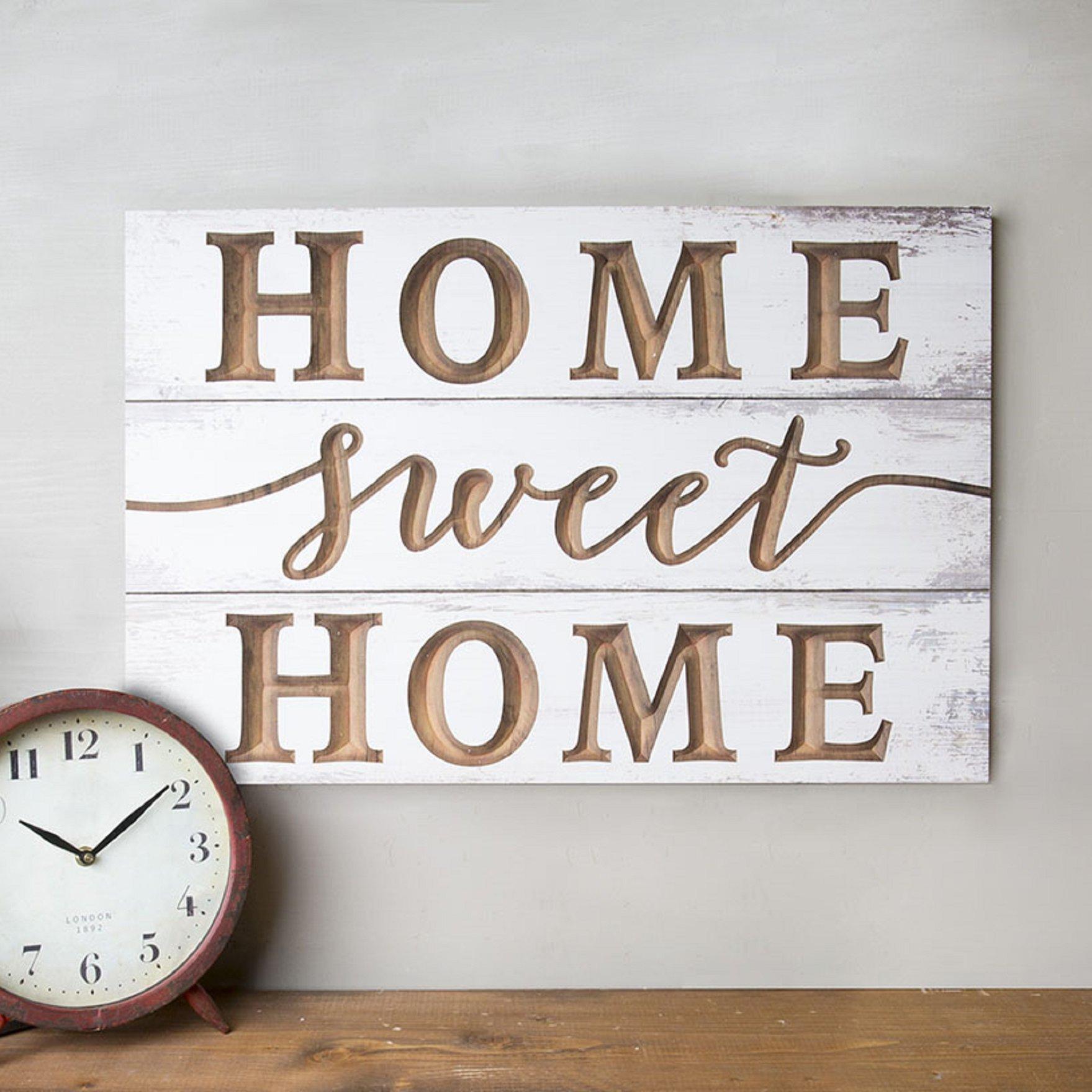 Home Sweet Home Wall Decor | Wayfair Inside Laser Engraved Home Sweet Home Wall Decor (View 3 of 30)