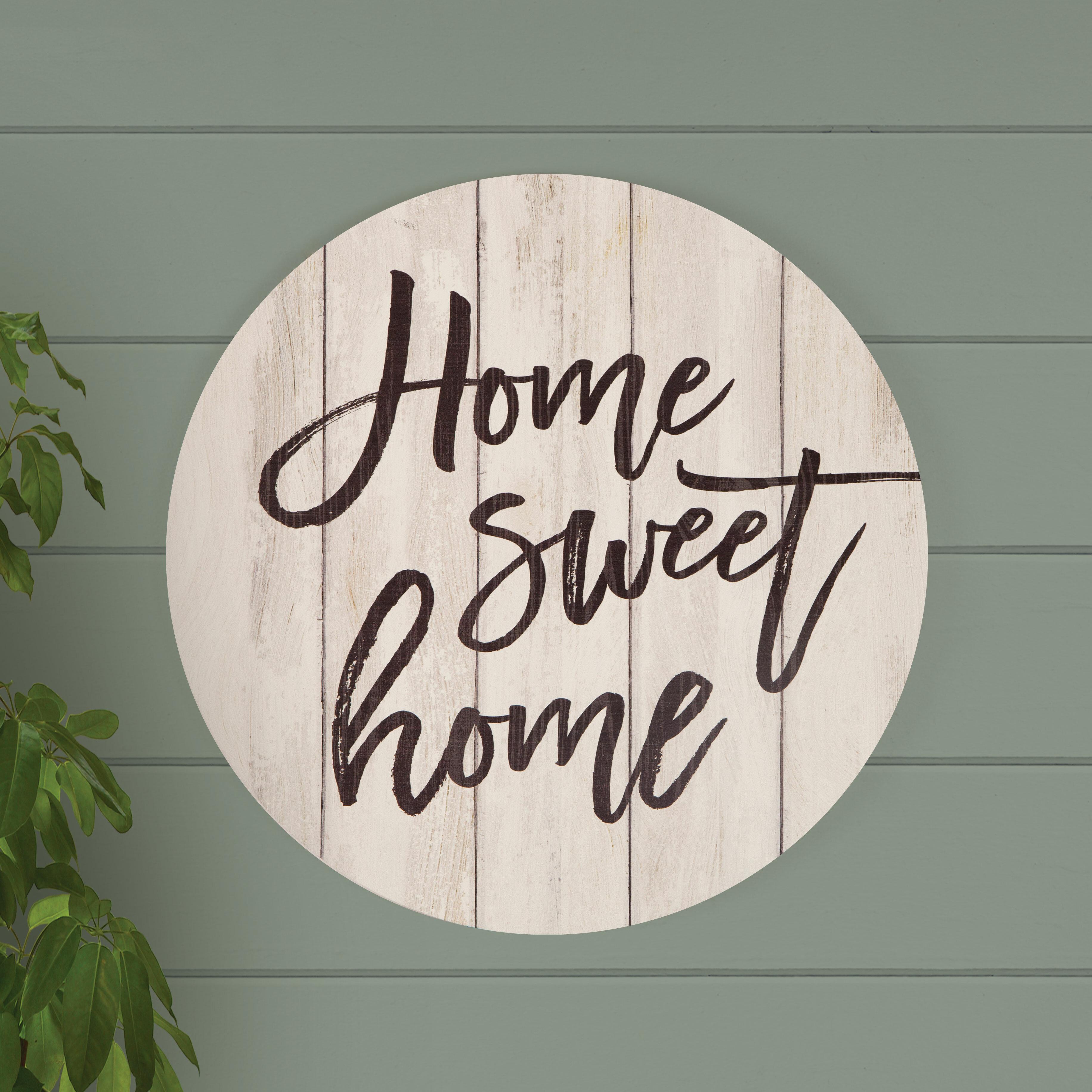Home Sweet Home Wall Decor | Wayfair Pertaining To Laser Engraved Home Sweet Home Wall Decor (View 14 of 30)