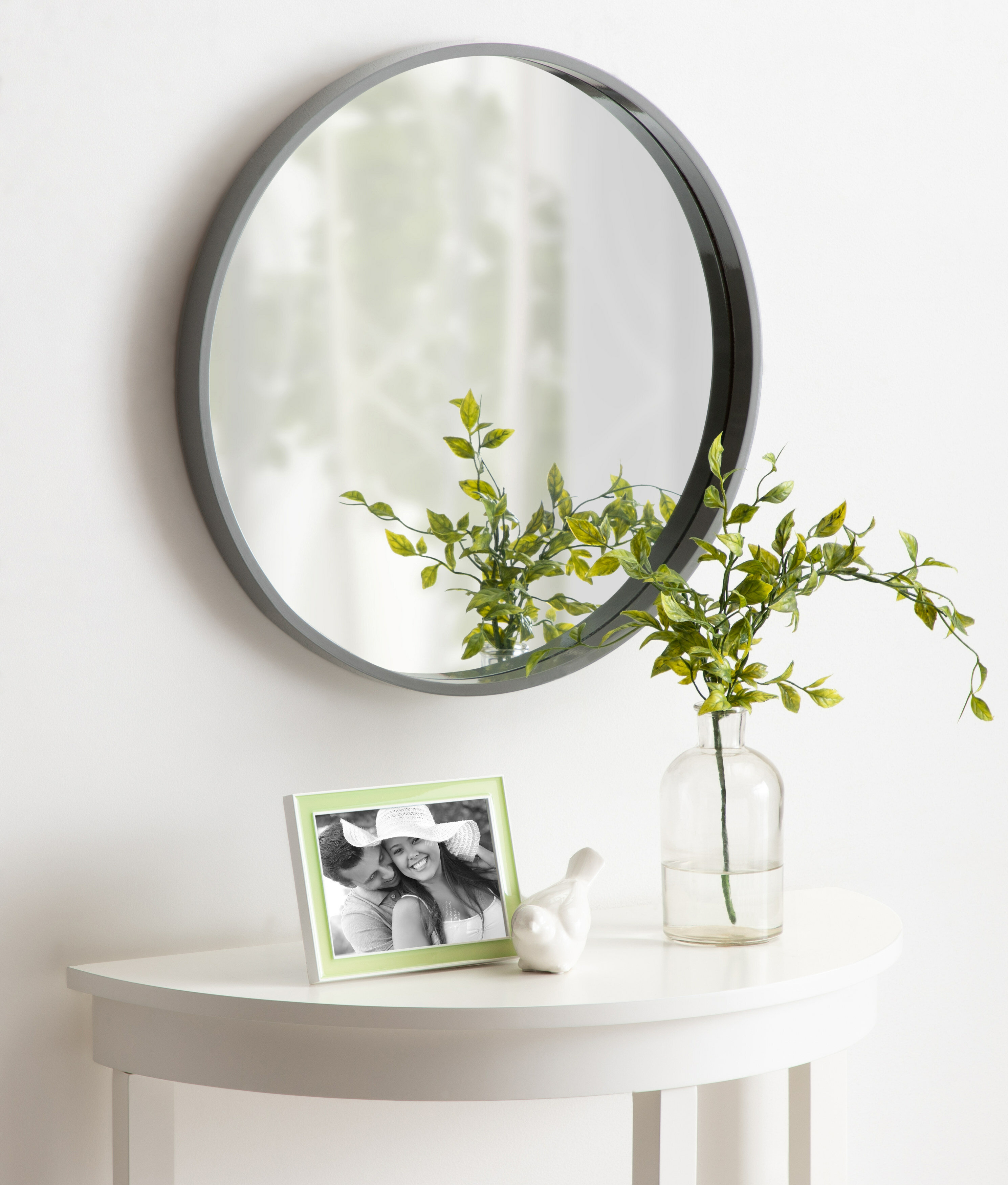 Homerton Round Wall Accent Mirror pertaining to Swagger Accent Wall Mirrors (Image 10 of 30)