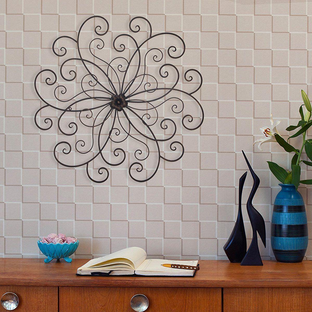 Homes Art Bronze Flower Urban Design Metal Wall Decor For In Flower Urban Design Metal Wall Decor (View 13 of 30)
