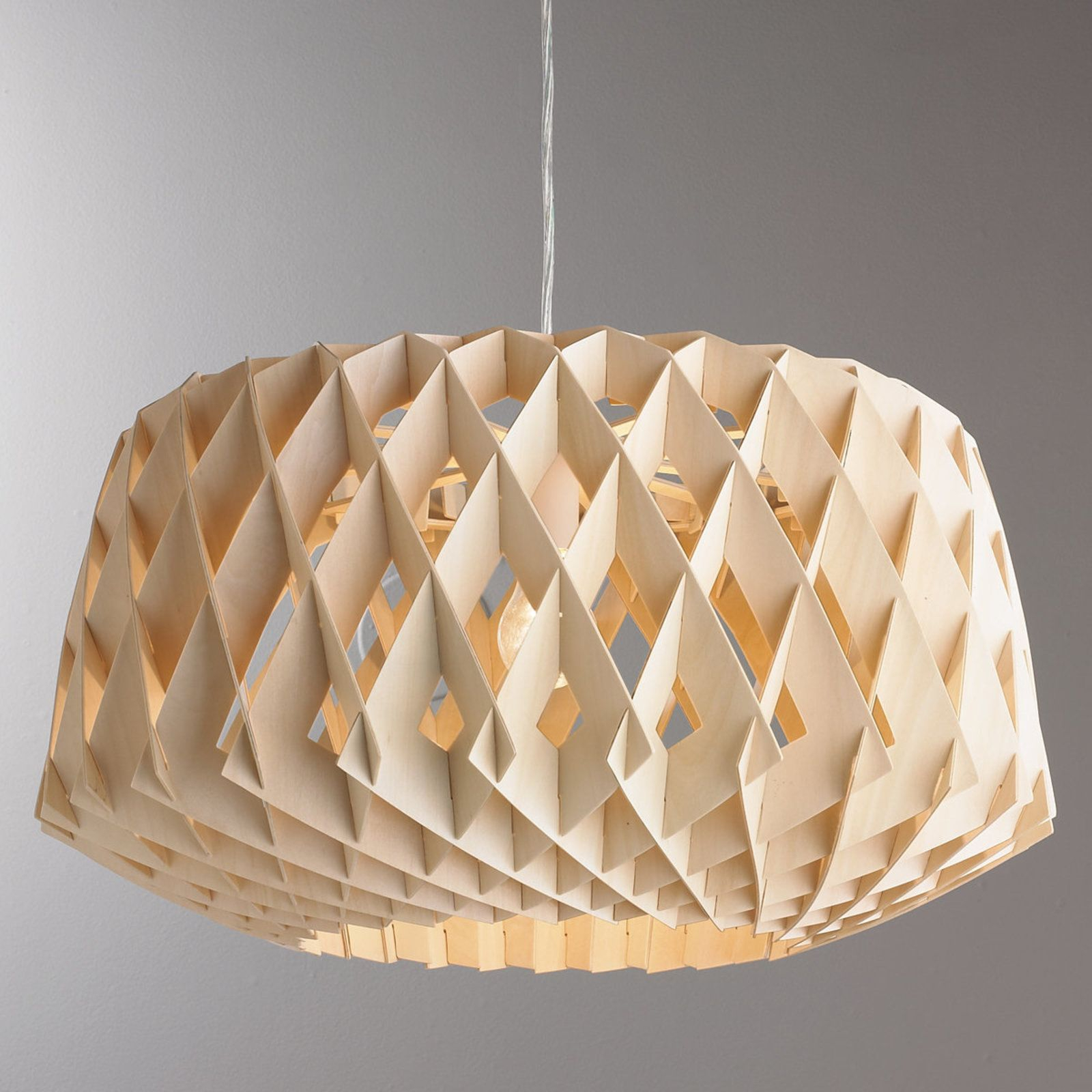 Honeycomb Modern Dome Pendant | For The Home | Wood Pendant inside Melora 1-Light Single Geometric Pendants (Image 14 of 30)