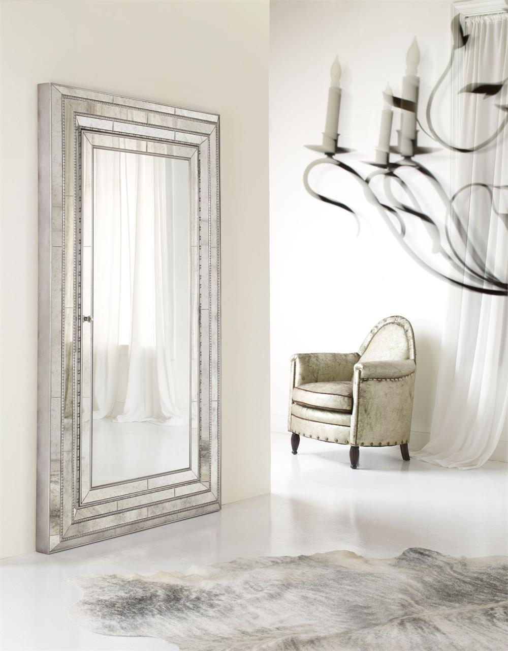 Hooker Furniture Accents Melange Glamour Floor Mirror with Rhein Accent Mirrors (Image 15 of 30)