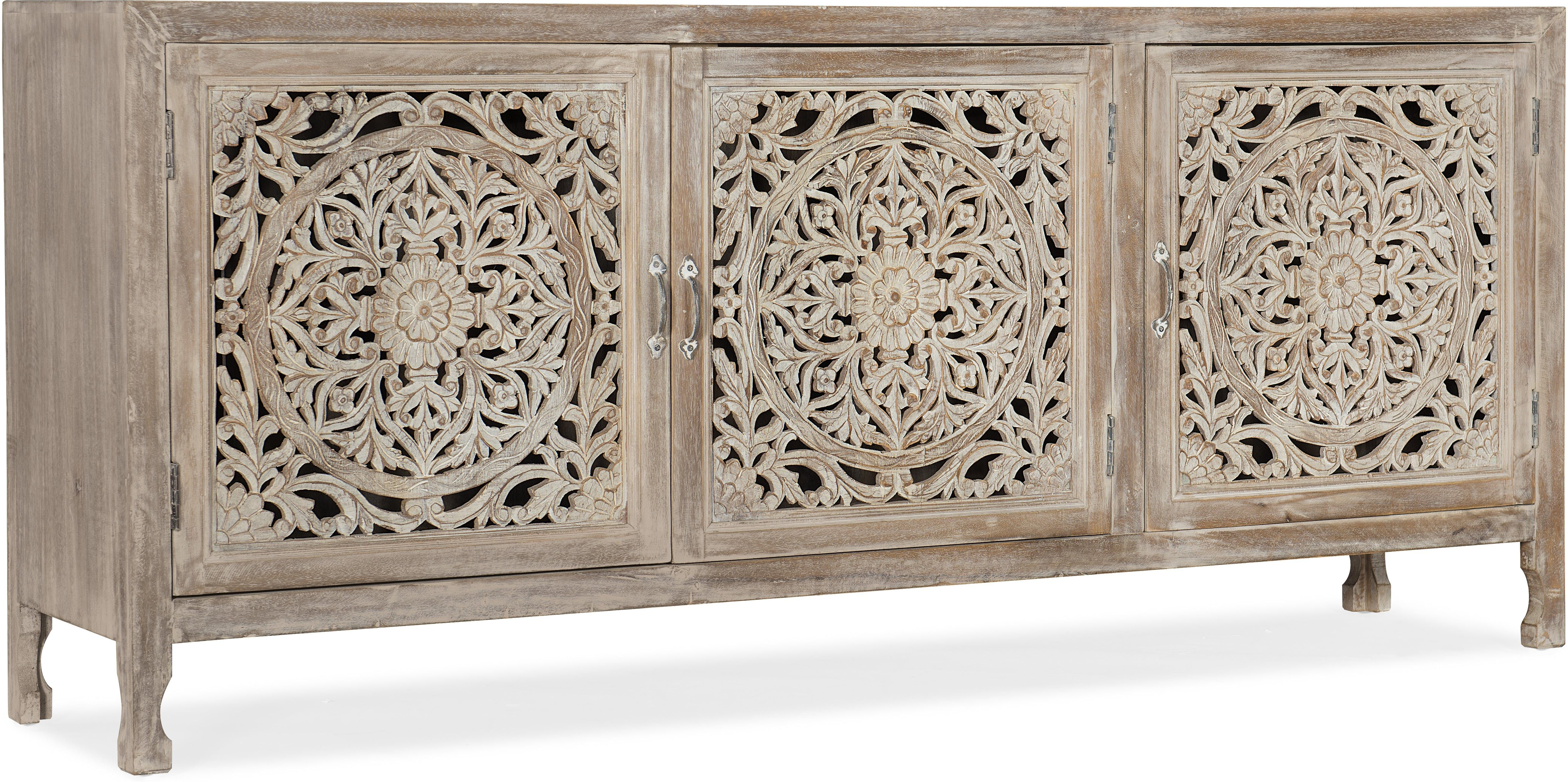 Hooker Furniture Home Entertainment Entertainment Console Throughout Deville Russelle Sideboards (View 15 of 30)