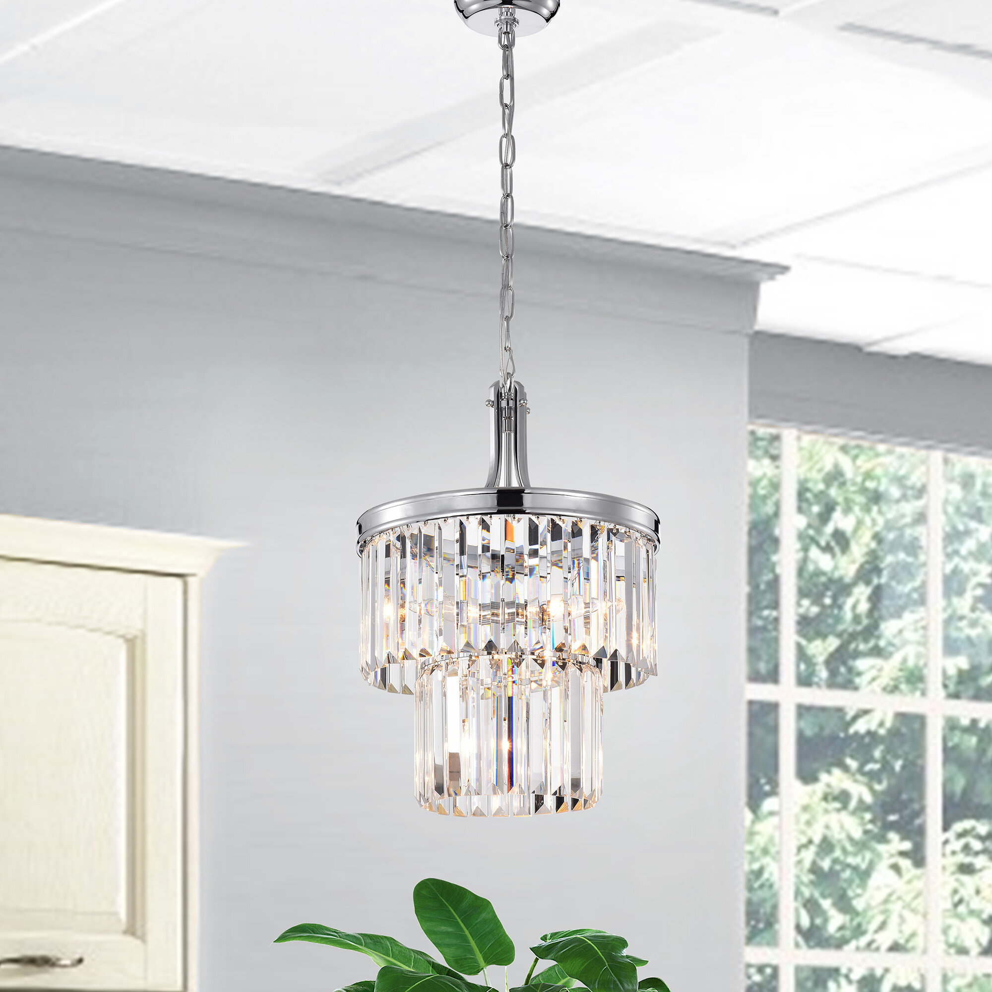 Hoquiam 4 Light Crystal Chandelier In Benedetto 5 Light Crystal Chandeliers (View 16 of 30)