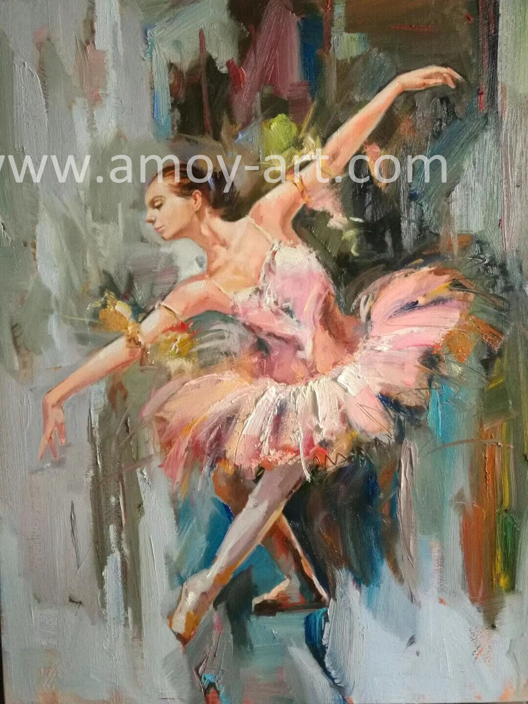 [hot Item] Impressive Ballet Dancer Handmade Oil Paintings For Wall Decor Throughout Dance Of Desire Wall Decor (View 13 of 30)