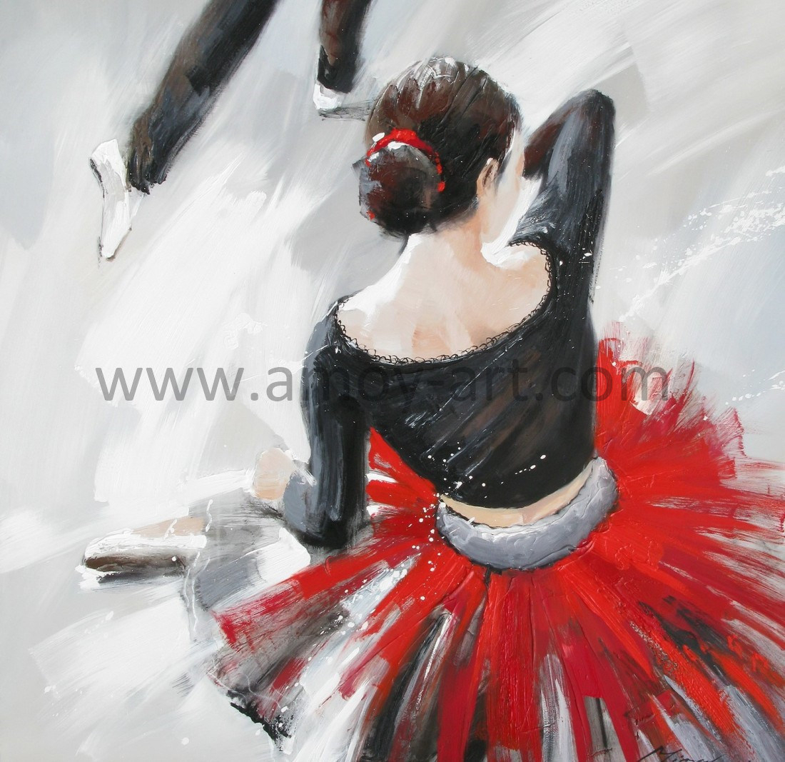 [hot Item] Modern Dancing Lady Oil Paintings For Wall Decor With Regard To Dance Of Desire Wall Decor (View 16 of 30)