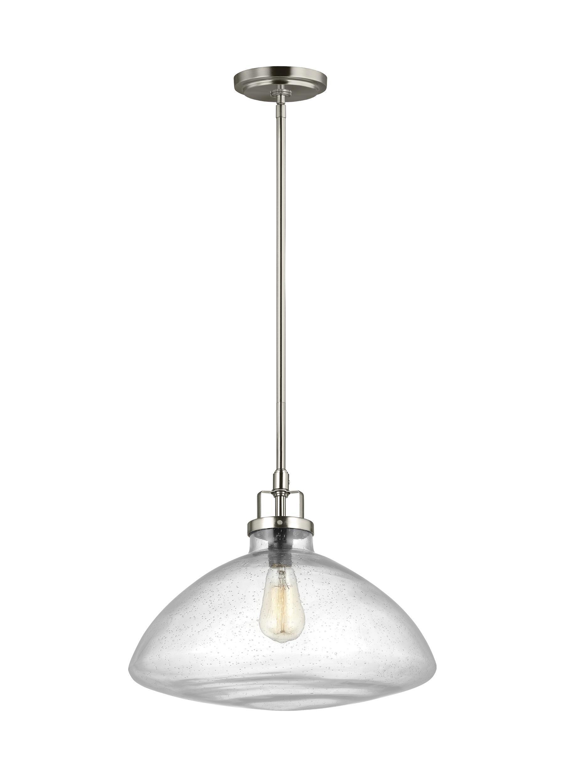 Houon 1-Light Single Schoolhouse Pendant intended for Granville 2-Light Single Dome Pendants (Image 22 of 30)