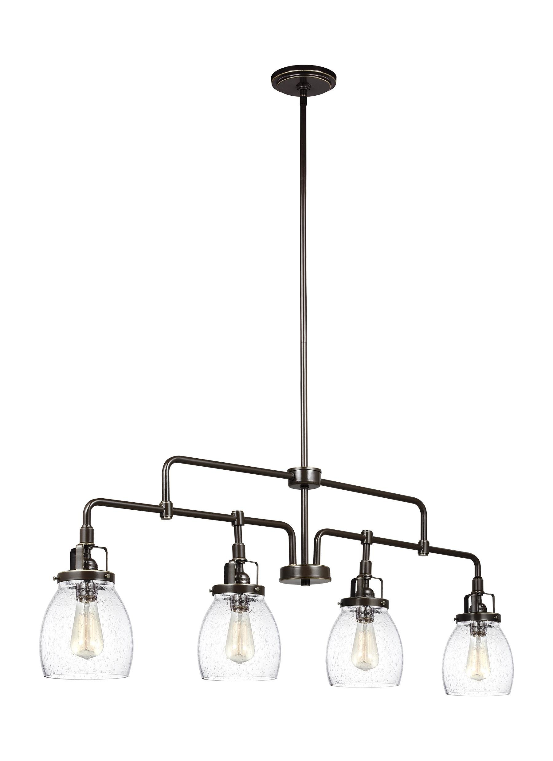 Houon 4 Light Kitchen Island Pendant Pertaining To Houon 1 Light Cone Bell Pendants (View 24 of 30)