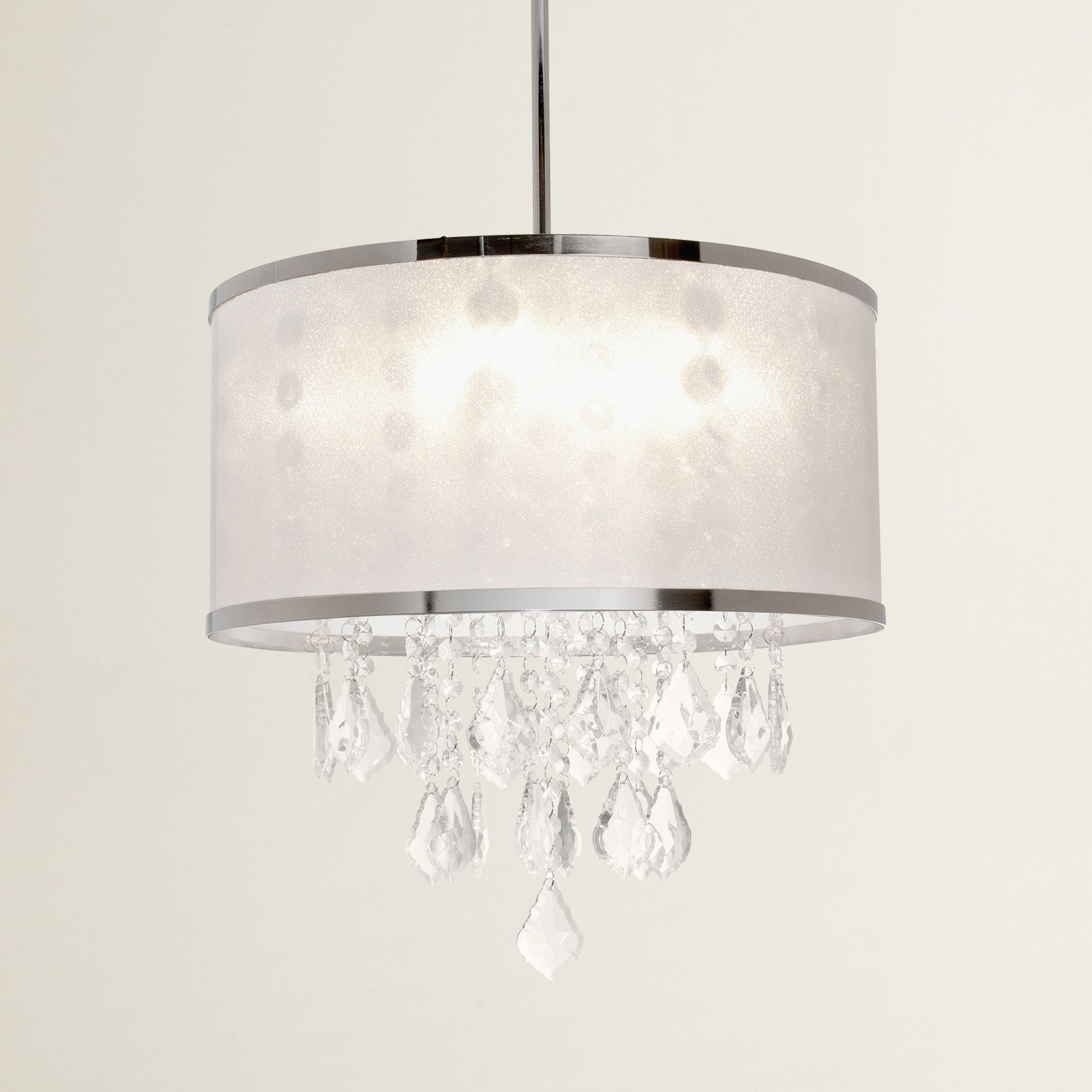 House Of Hampton® Leibowitz 4 Light Drum Chandelier Throughout Aurore 4 Light Crystal Chandeliers (View 15 of 30)