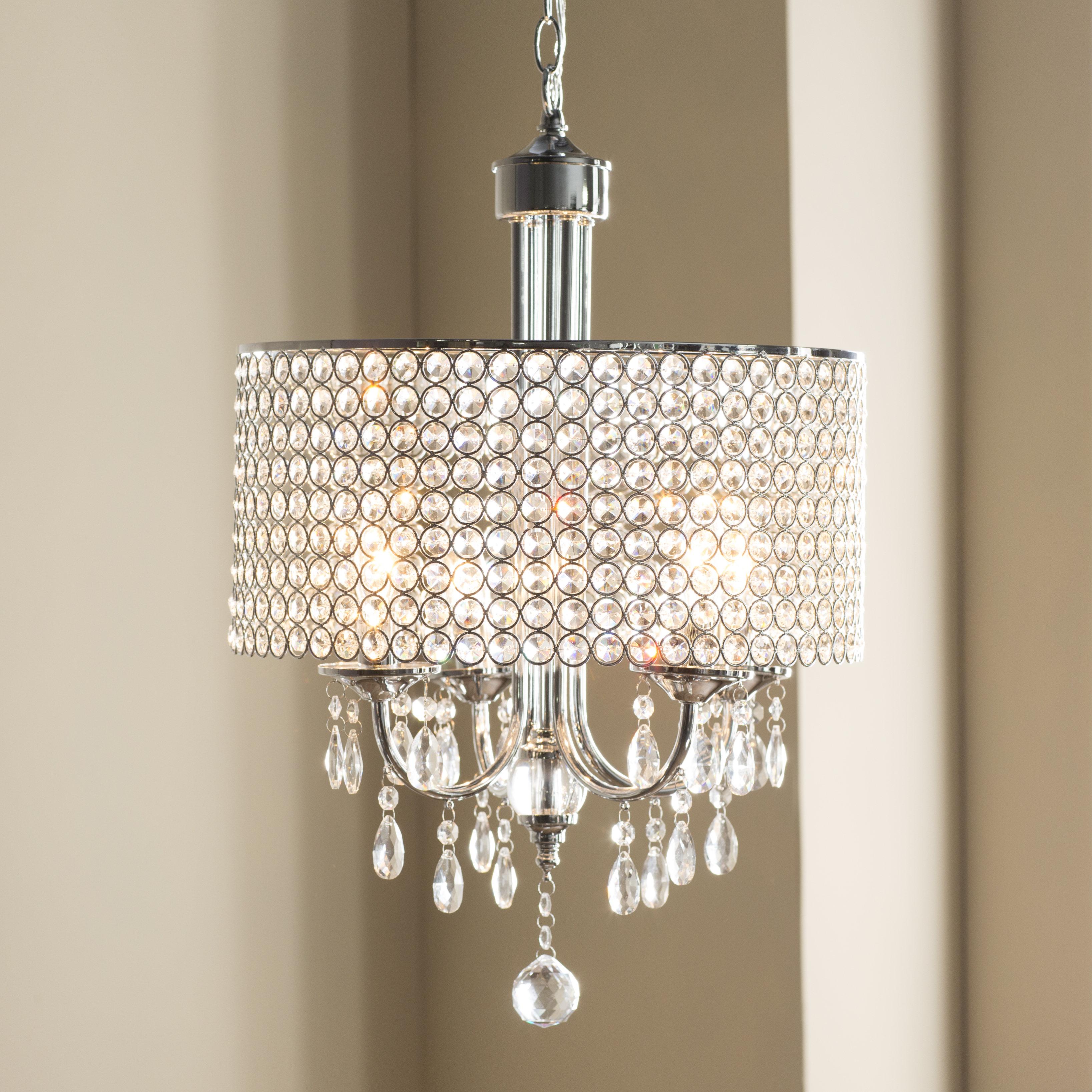 House Of Hampton Oldman 4 Light Crystal Chandelier In Aldgate 4 Light Crystal Chandeliers (Image 19 of 30)