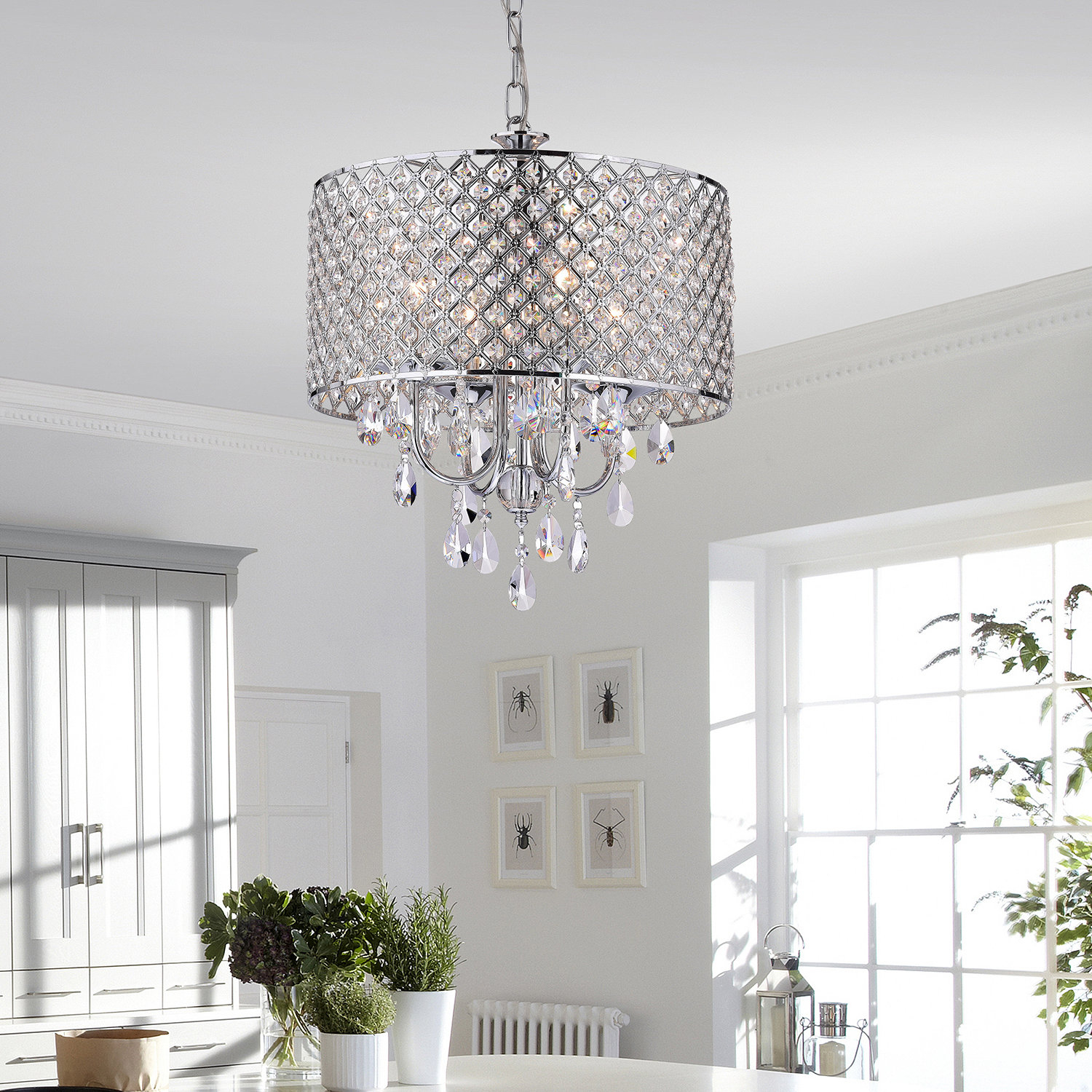 House Of Hampton Von 4 Light Crystal Chandelier & Reviews Pertaining To Aldgate 4 Light Crystal Chandeliers (View 11 of 30)