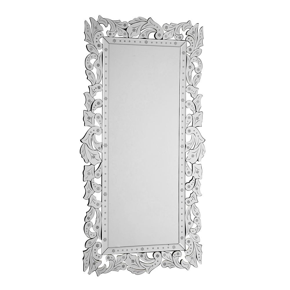Houseology Collection Geonna Glass Wall Mirror Ornate Frame for Rectangle Ornate Geometric Wall Mirrors (Image 9 of 30)