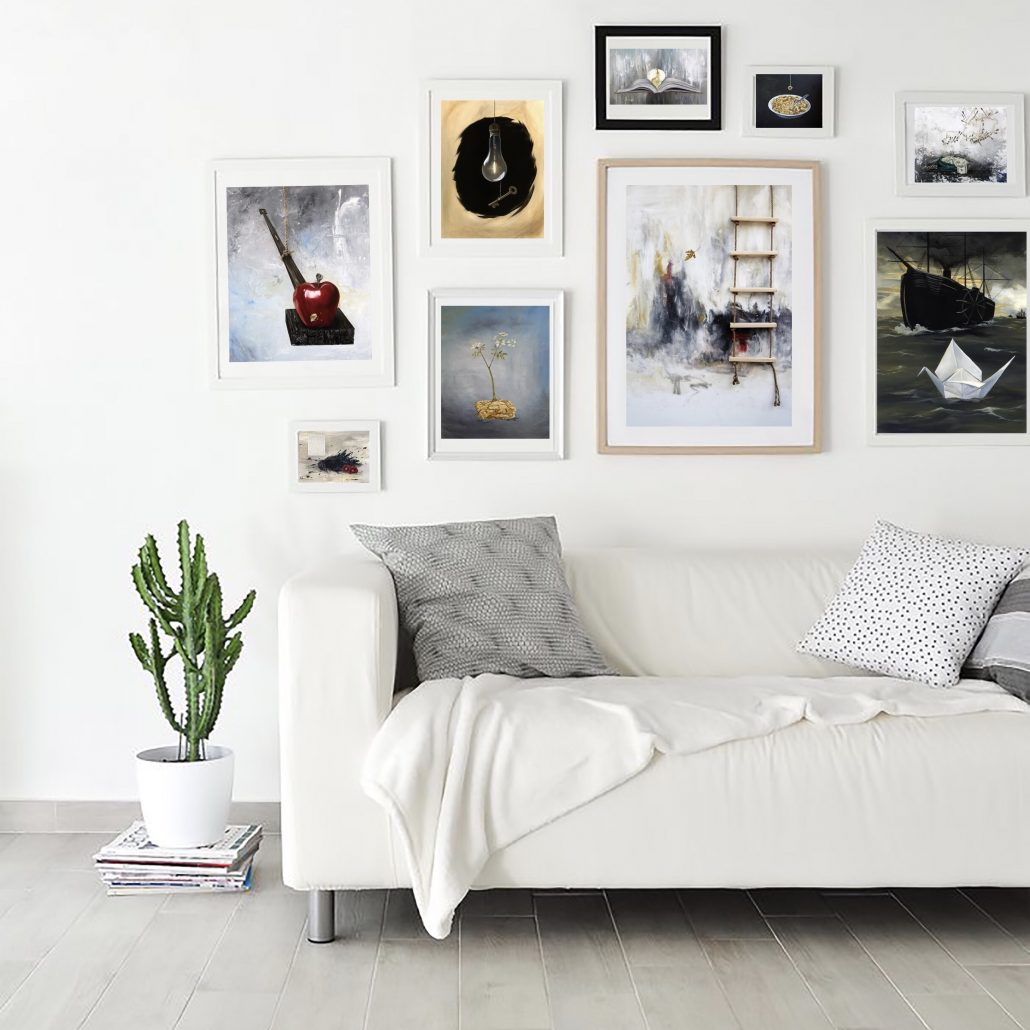 How To Create A Gallery Wall Of Your Dreams – K Llamas Fine Art In Dance Of Desire Wall Decor (View 23 of 30)