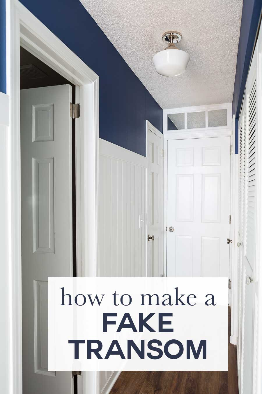 How To Make A Fake Transom Above A Door | In My Own Style In Faux Window Wood Wall Mirrors (View 19 of 30)