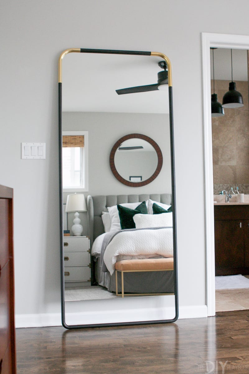 How To Secure A Leaning Mirror To The Wall | The Diy Playbook With Leaning Mirrors (View 10 of 30)