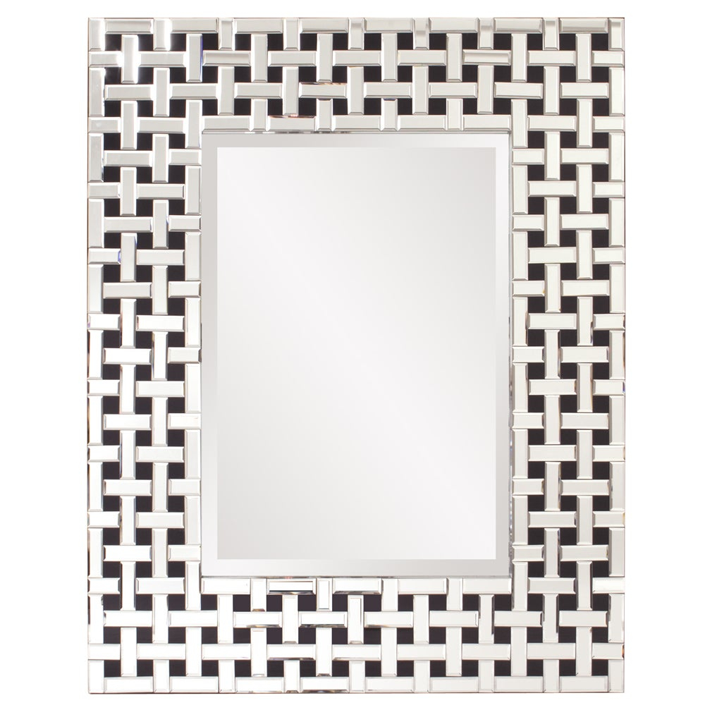 Howard Elliot Collection Allan Andrews Colton Glass/wood Modern Mirror With Regard To Colton Modern & Contemporary Wall Mirrors (View 17 of 30)