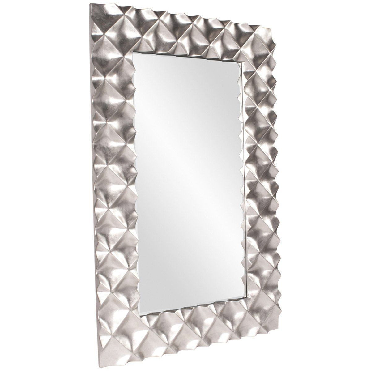 Howard Elliott Krystal Modern Silver Mirror In 2019 Throughout Caja Rectangle Glass Frame Wall Mirrors (View 15 of 30)