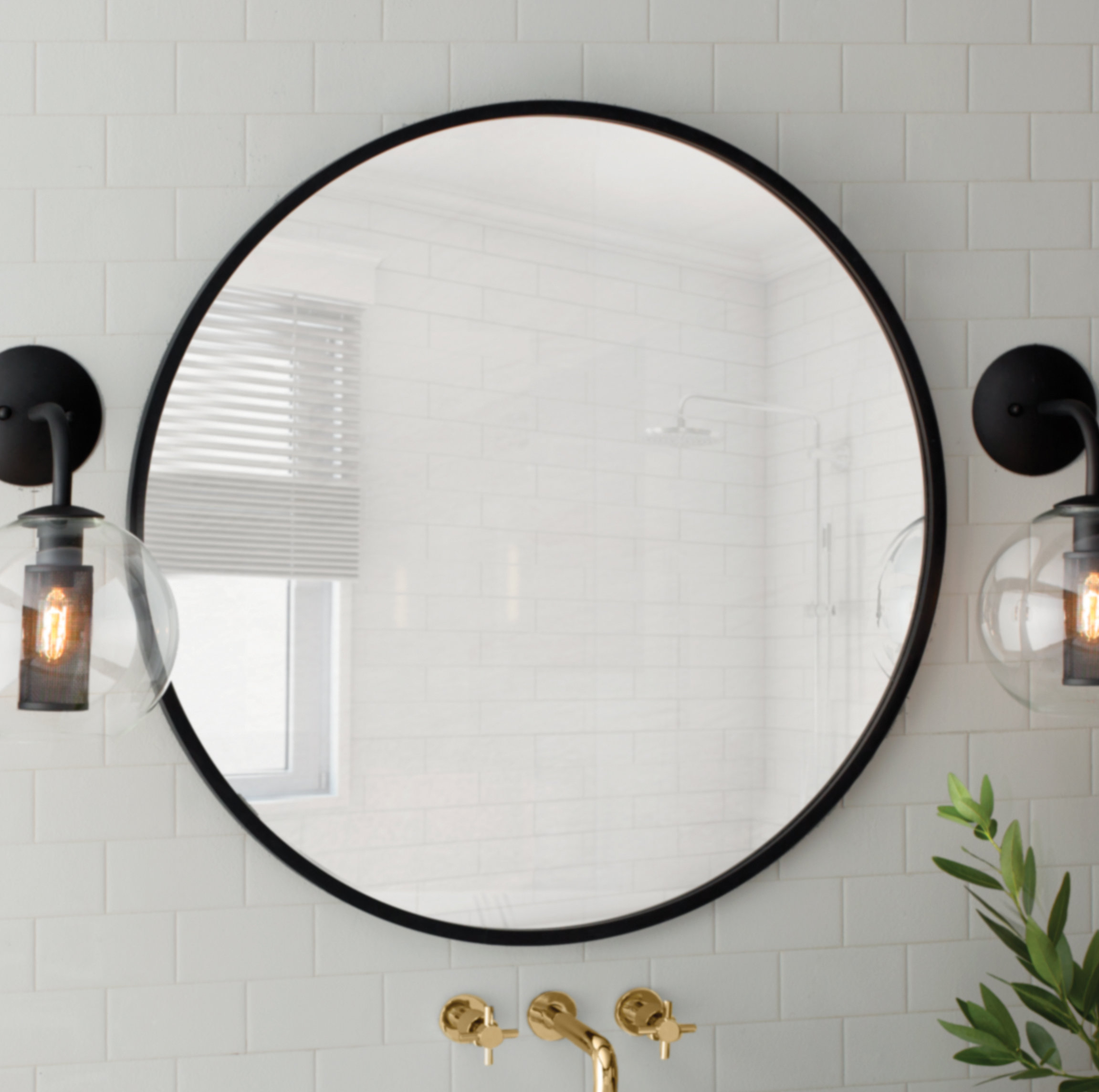 Hub Modern And Contemporary Accent Mirror regarding Yedinak Modern Distressed Accent Mirrors (Image 5 of 30)