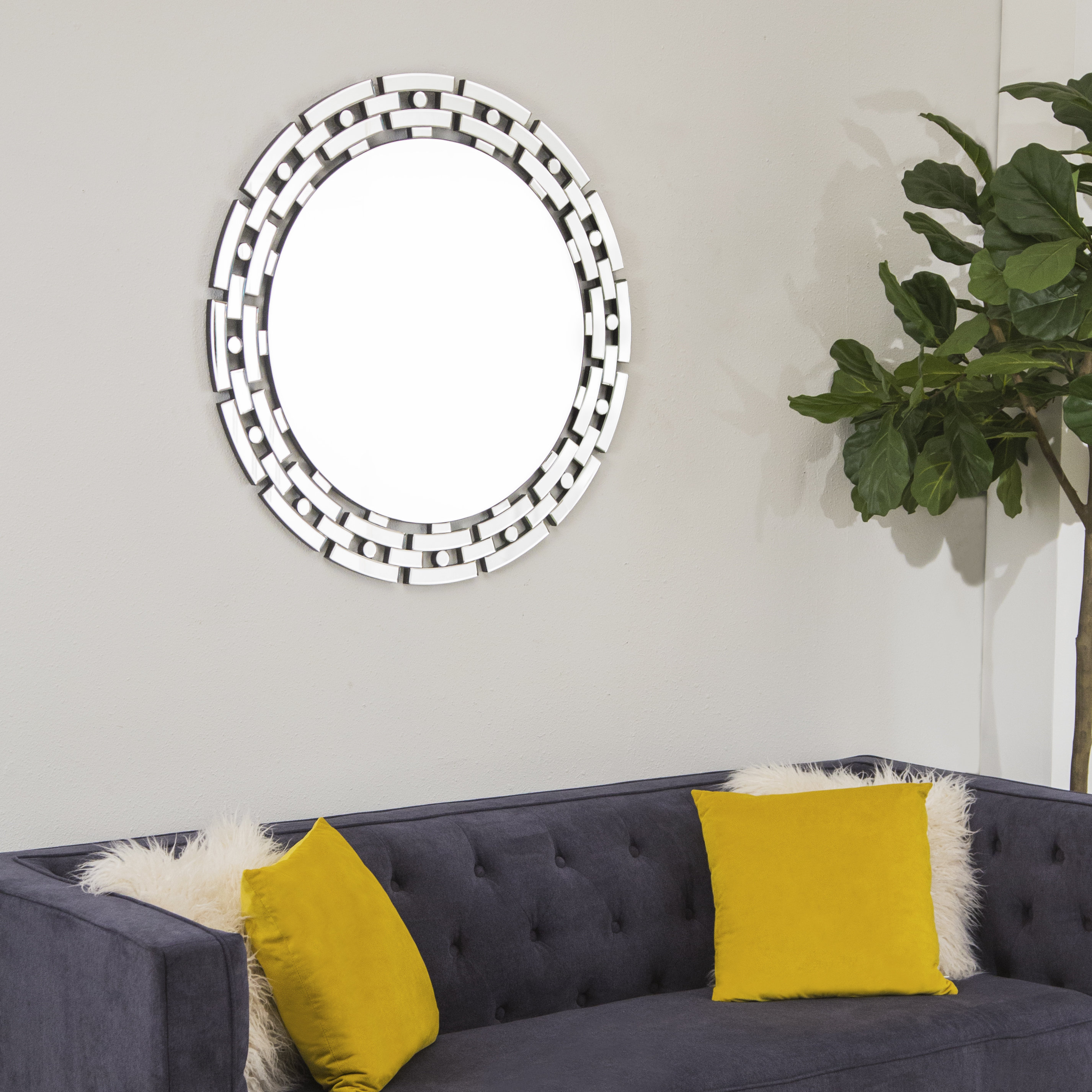 Huckins Modern & Contemporary Beveled Accent Mirror Intended For Modern & Contemporary Beveled Accent Mirrors (View 18 of 30)