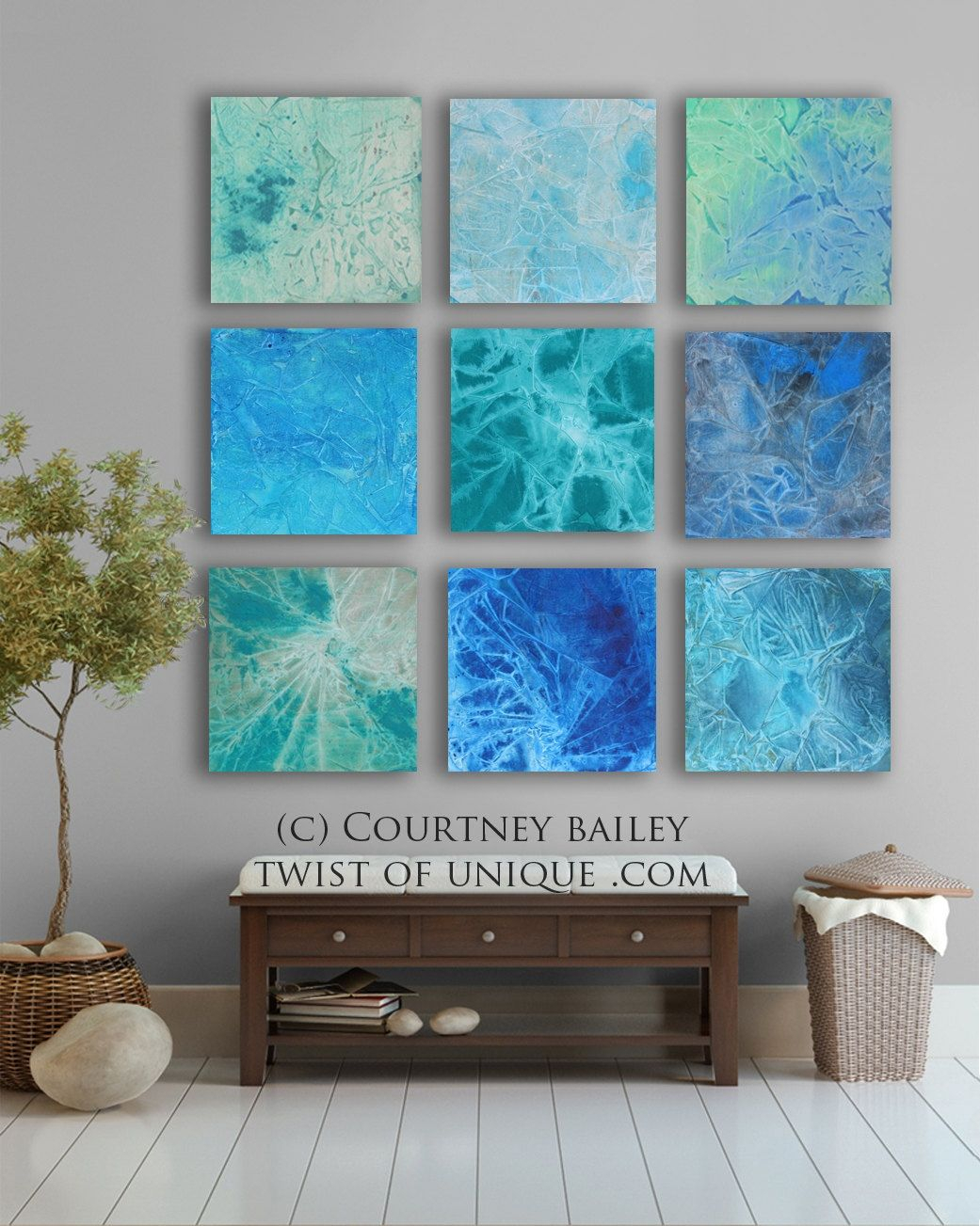 Huge Abstract Art Custom 9 Square Abstract Wall Within Tree Of Life Wall Decor By Red Barrel Studio (View 25 of 30)