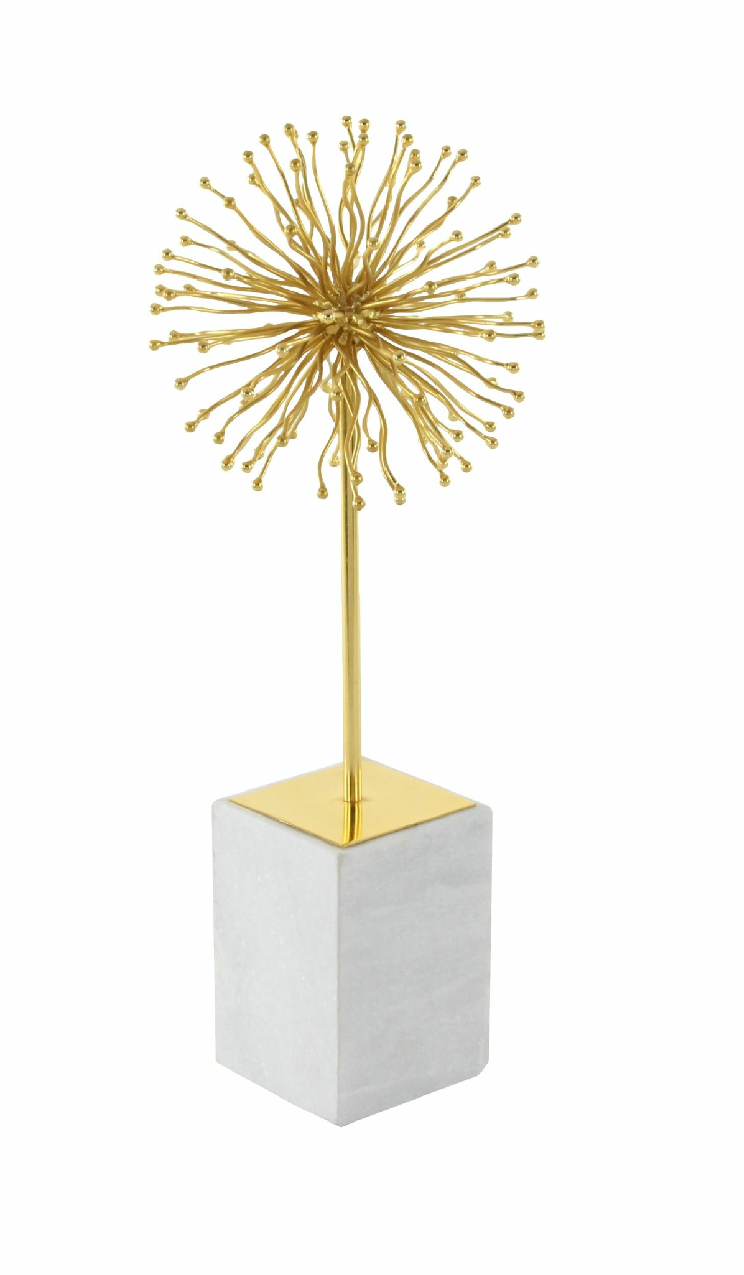 Hungerford Marble Star Sculpture within Set Of 3 Contemporary 6, 9, And 11 Inch Gold Tin Starburst Sculptures (Image 15 of 30)