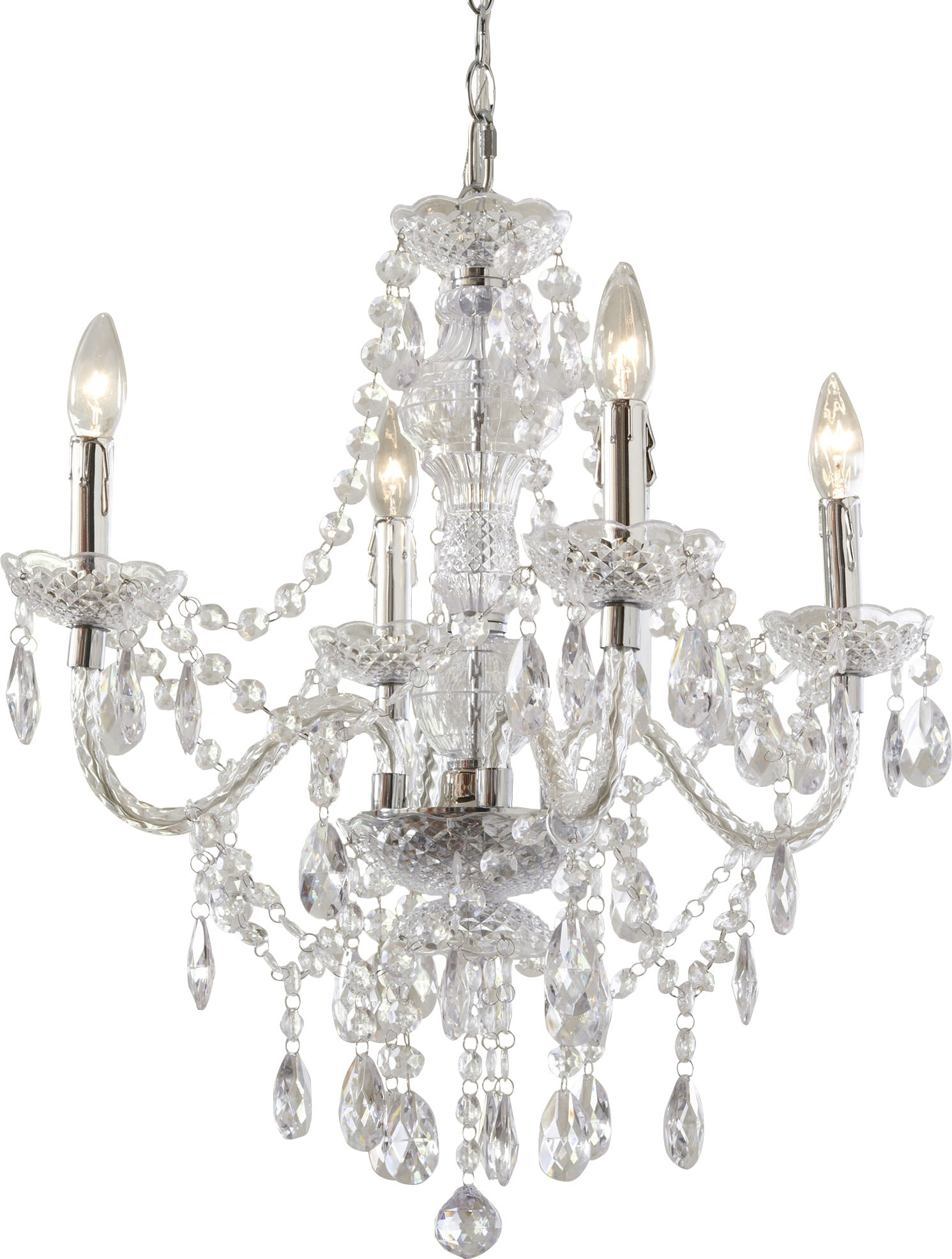 Ice Palace 4 Light Crystal Chandelier Pertaining To Aldora 4 Light Candle Style Chandeliers (View 11 of 30)