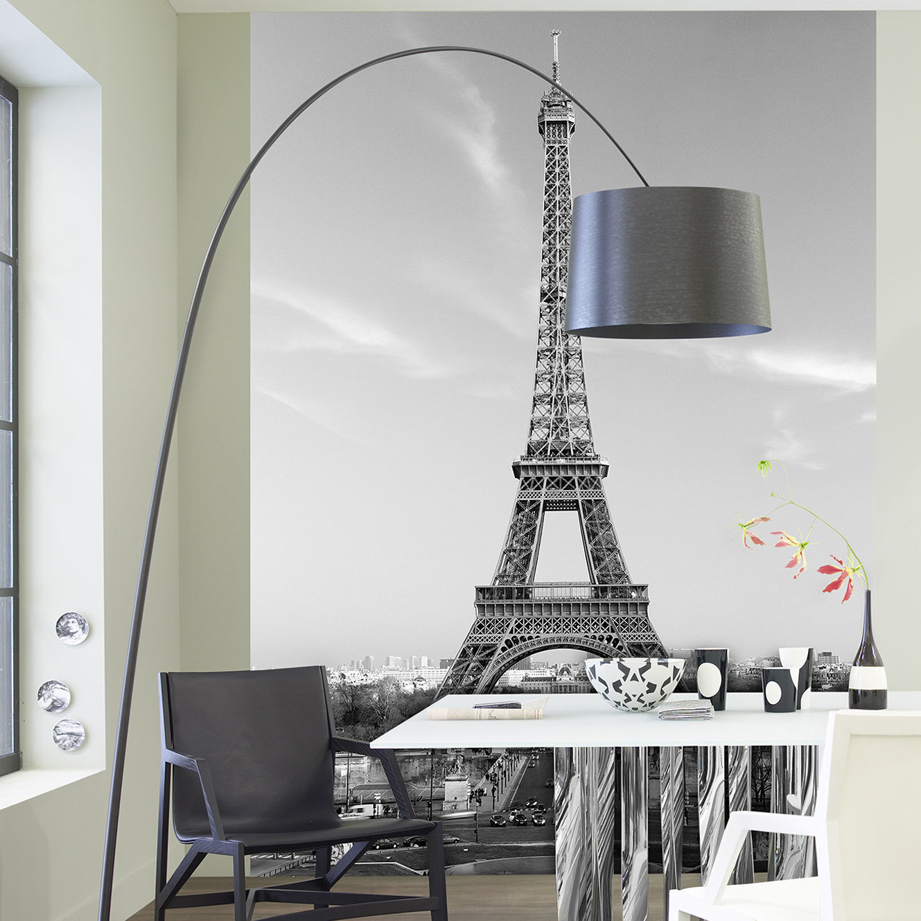 Ideal Décor La Tour Eiffel Wall Mural With Latour Wall Decor (View 11 of 30)
