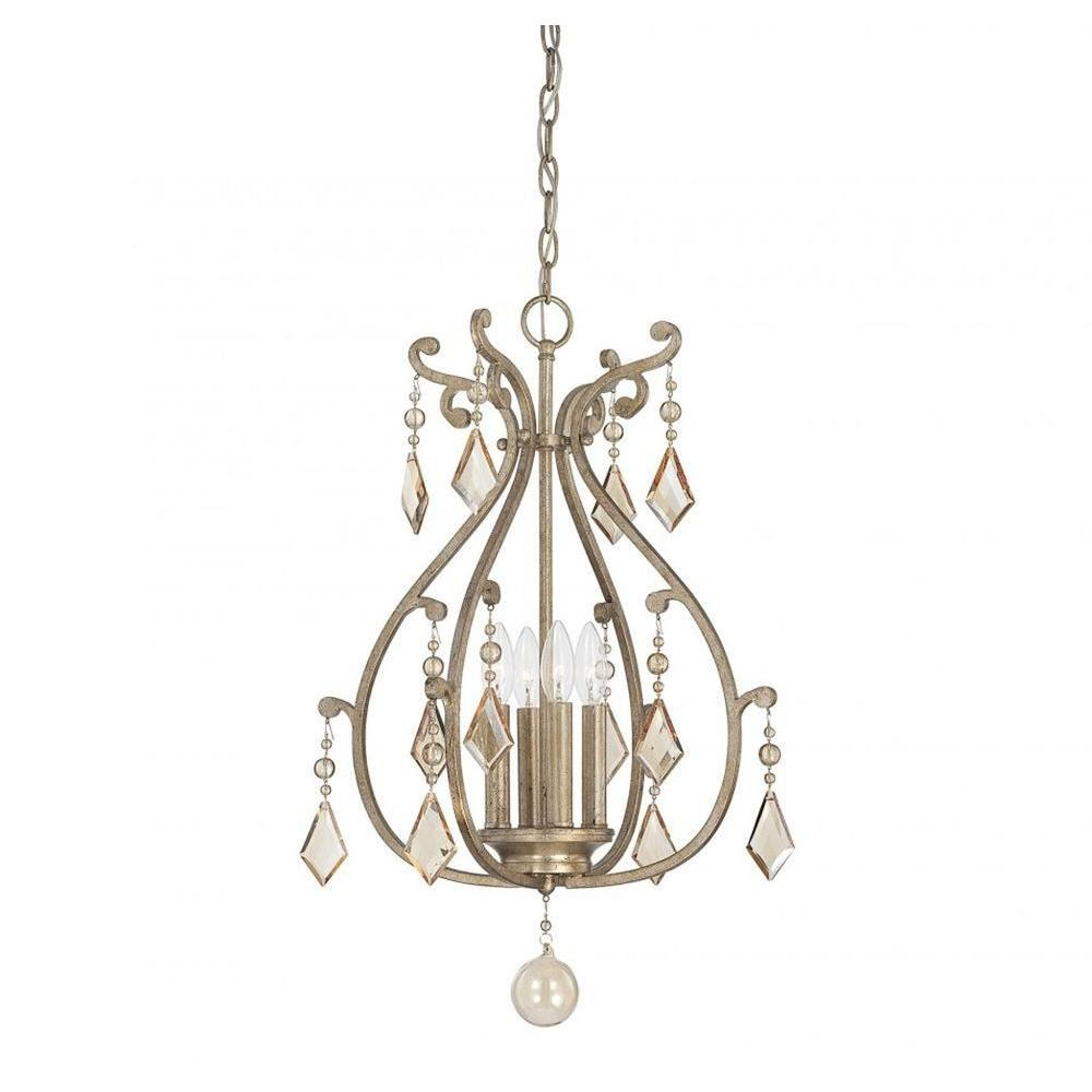 Illumine Hermione 4 Light Oxidized Silver Pendant With Regard To Hermione 5 Light Drum Chandeliers (View 16 of 30)