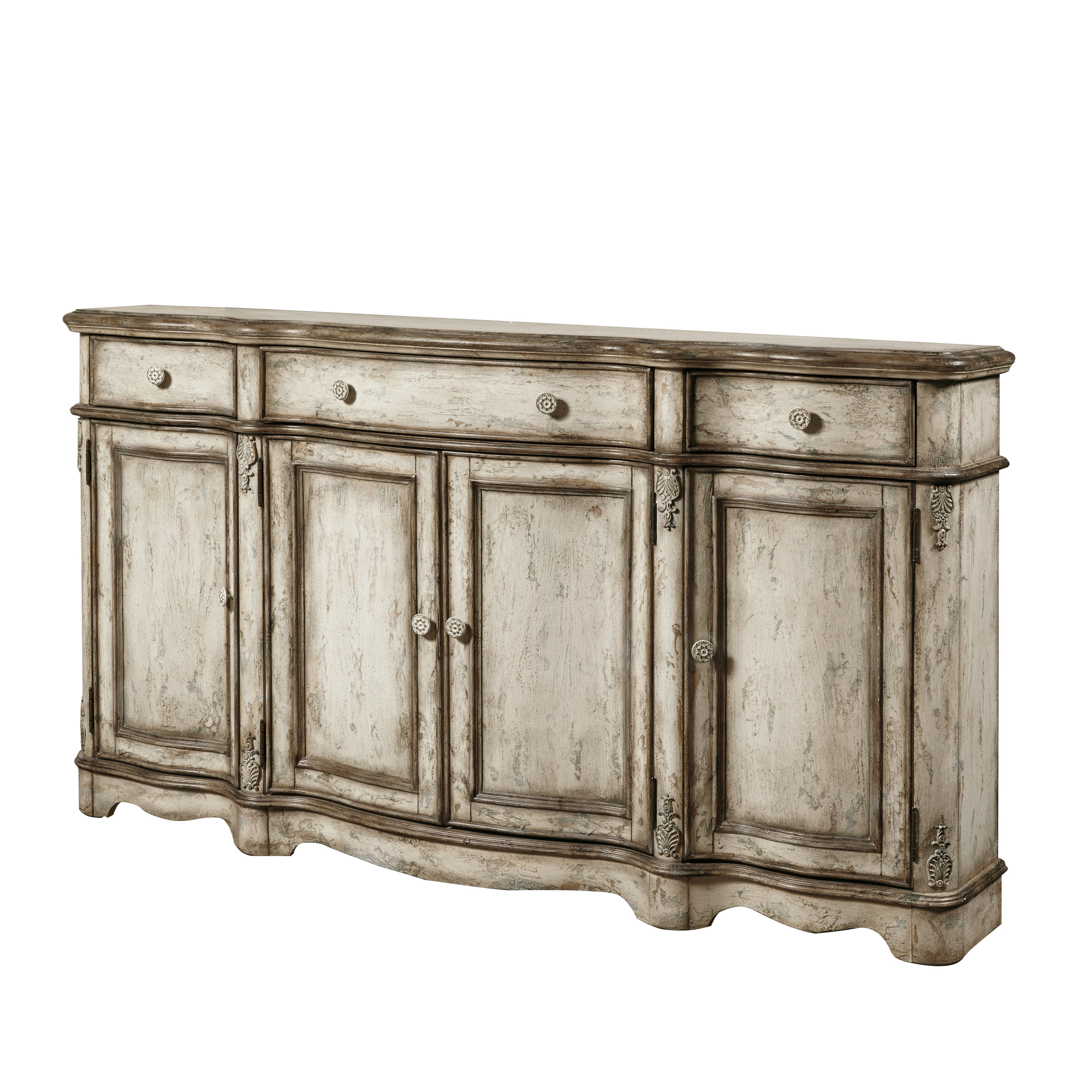 Ilyan Traditional Wood Sideboard Throughout Deville Russelle Sideboards (View 16 of 30)
