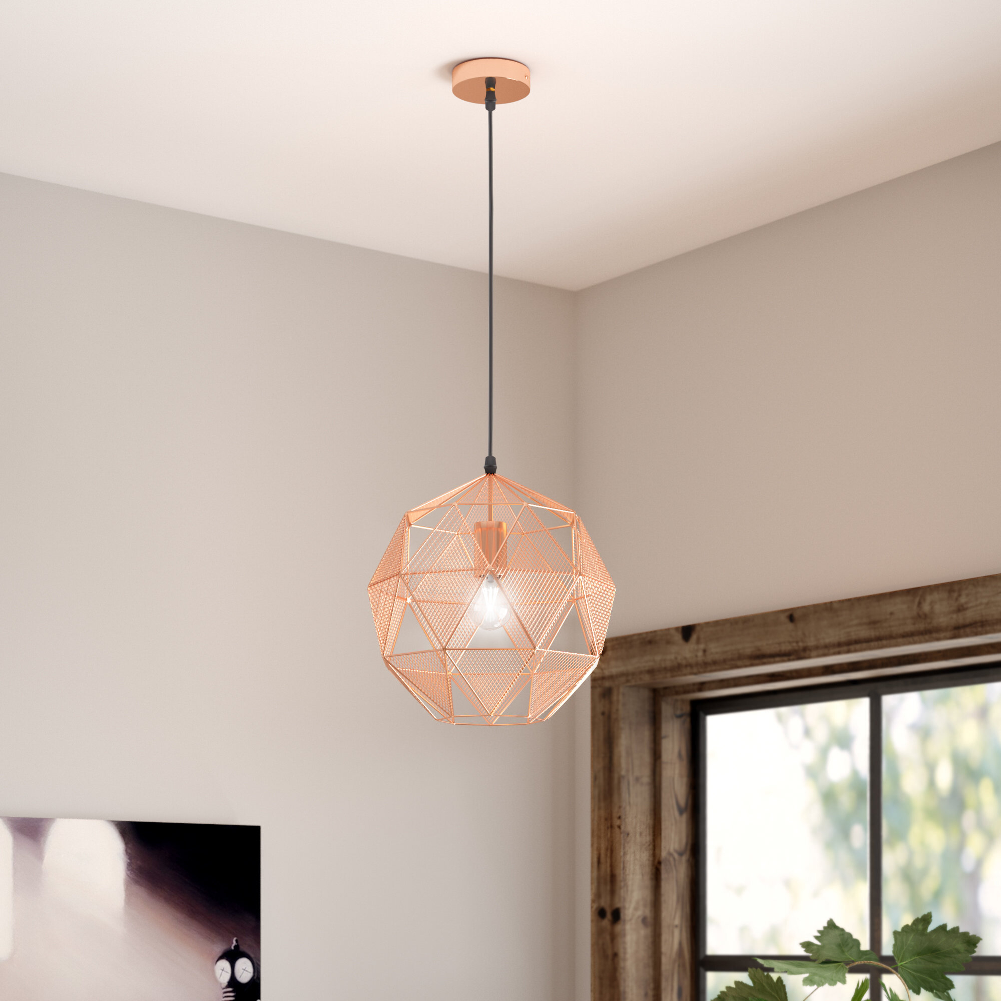 Immanuel 1-Light Geometric Pendant with regard to 1-Light Geometric Globe Pendants (Image 19 of 30)