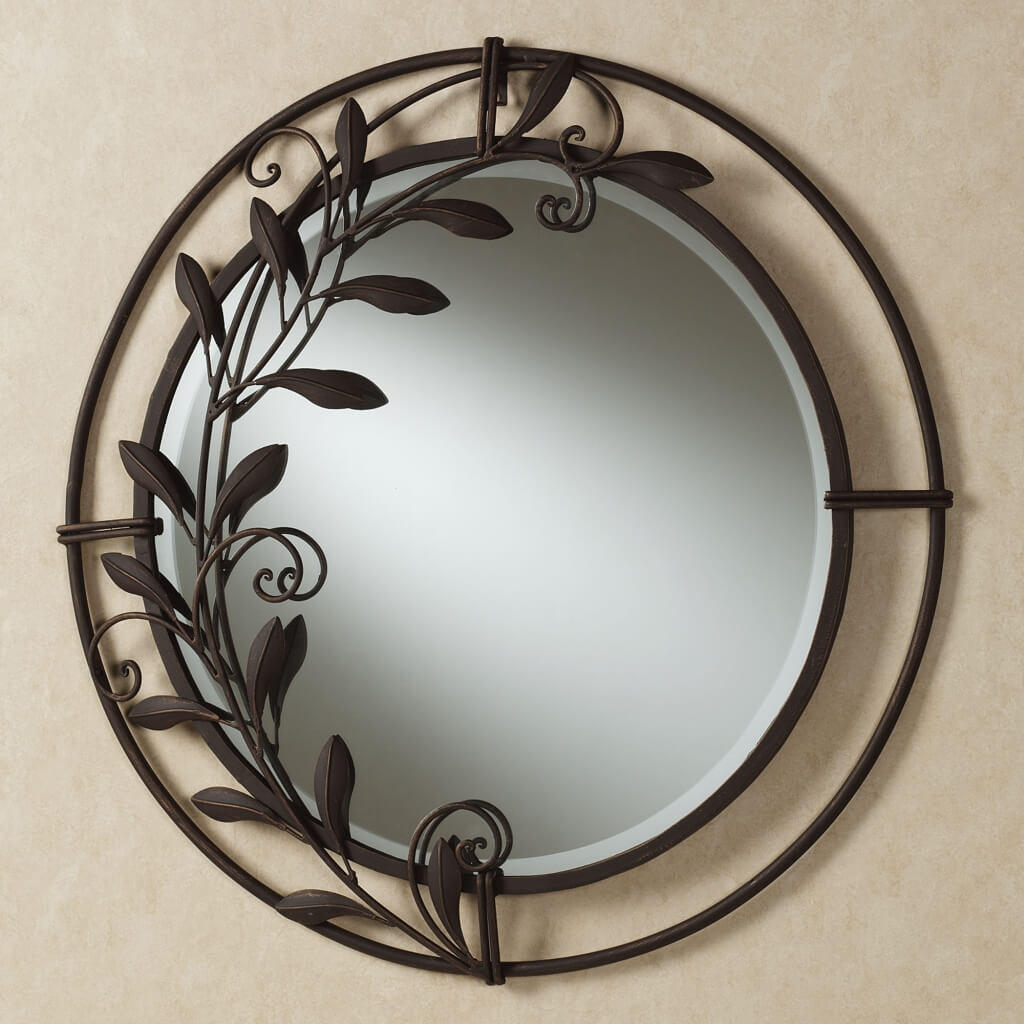 Impressive Black Decorative Mirrors Apricena Scroll Framed With Regard To Scroll Framed Wall Decor (View 11 of 30)