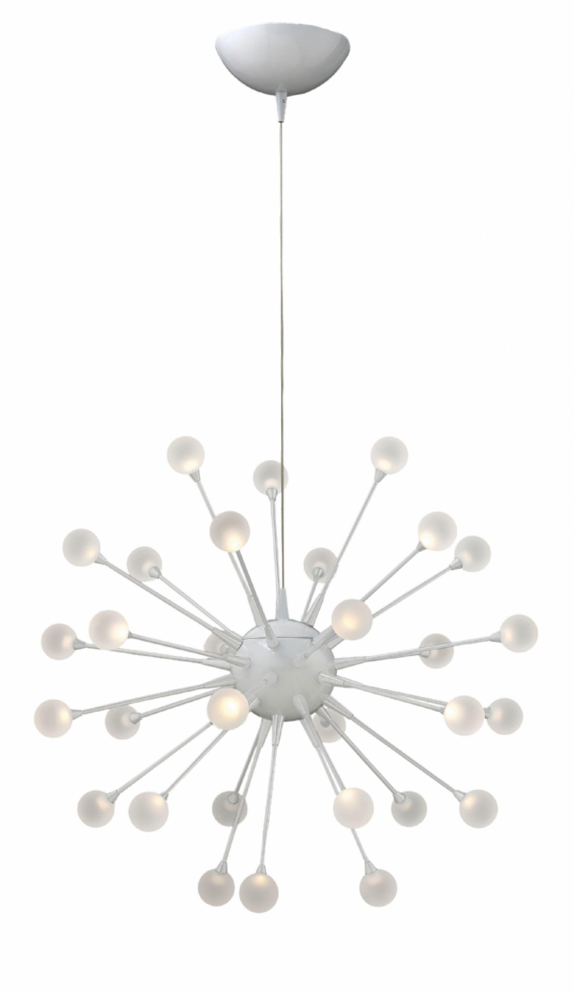 Impulse 30-Light Led Sputnik Chandelier in Silvia 6-Light Sputnik Chandeliers (Image 10 of 30)