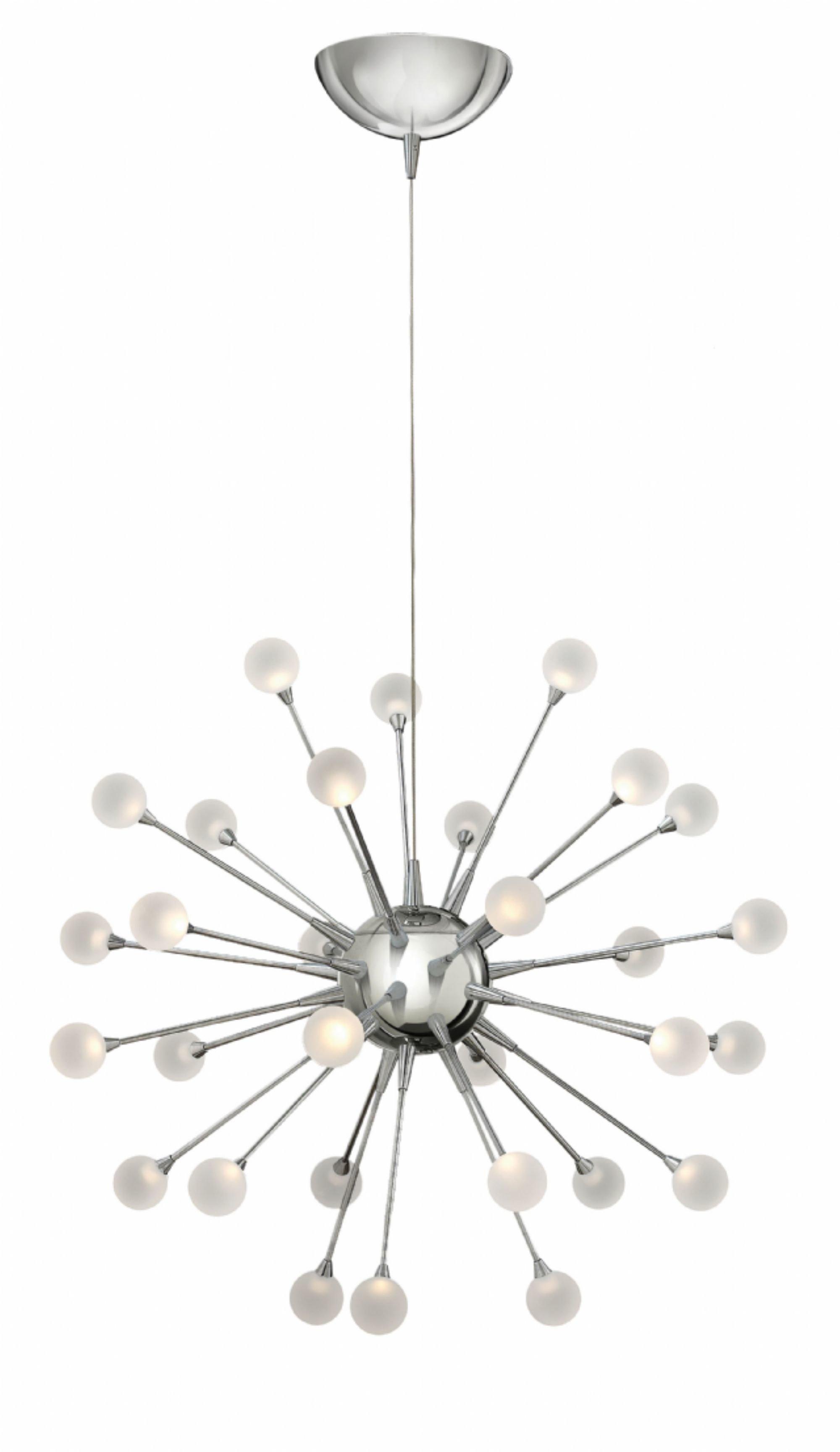 Impulse 30 Light Led Sputnik Chandelier Within Bacchus 12 Light Sputnik Chandeliers (Gallery 19 of 30)