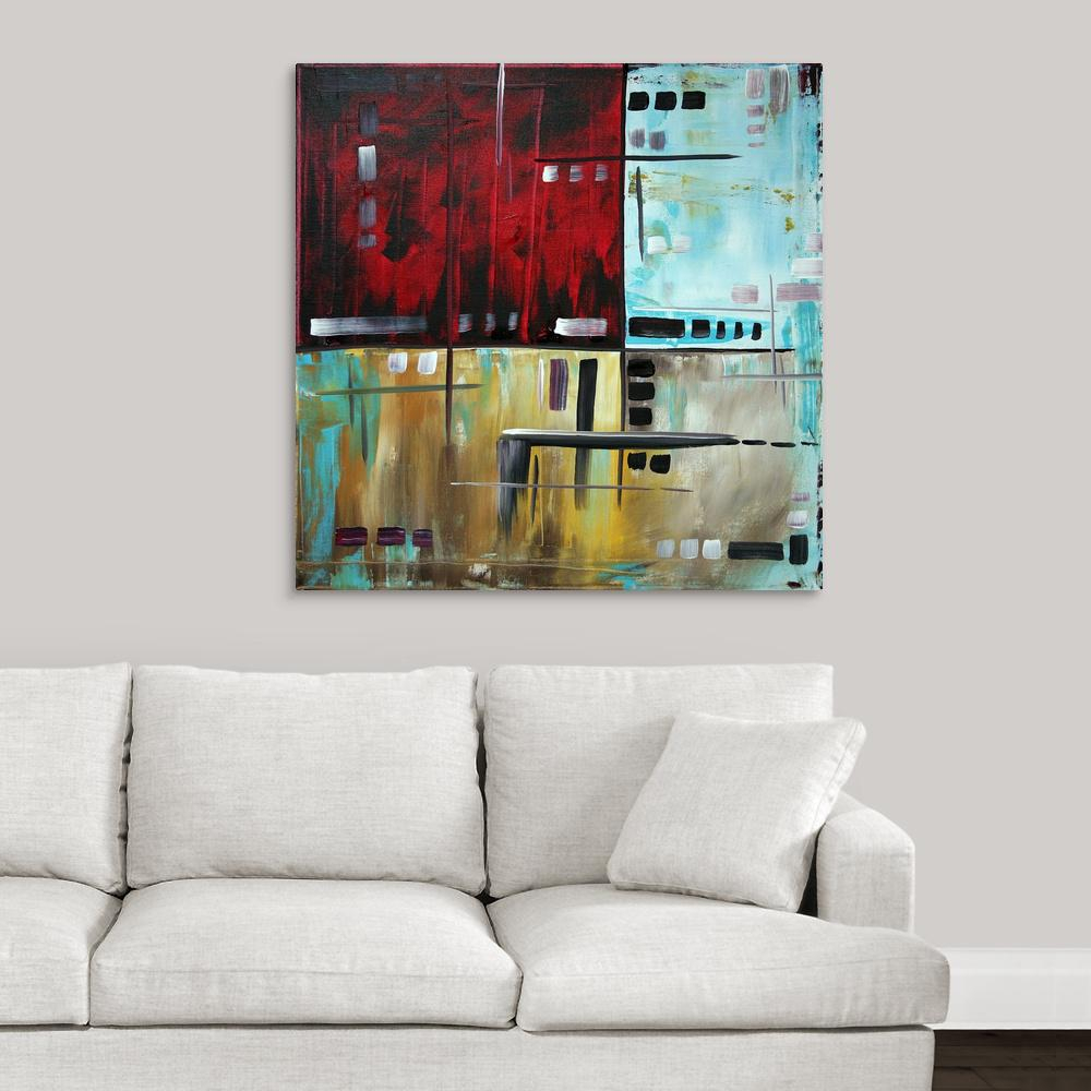 """""""in The Maze 1 – Contemporary Modern Abstract Painting""""megan Duncanson Canvas Wall Art Inside Contemporary Abstract Round Wall Decor (View 1 of 30)"""