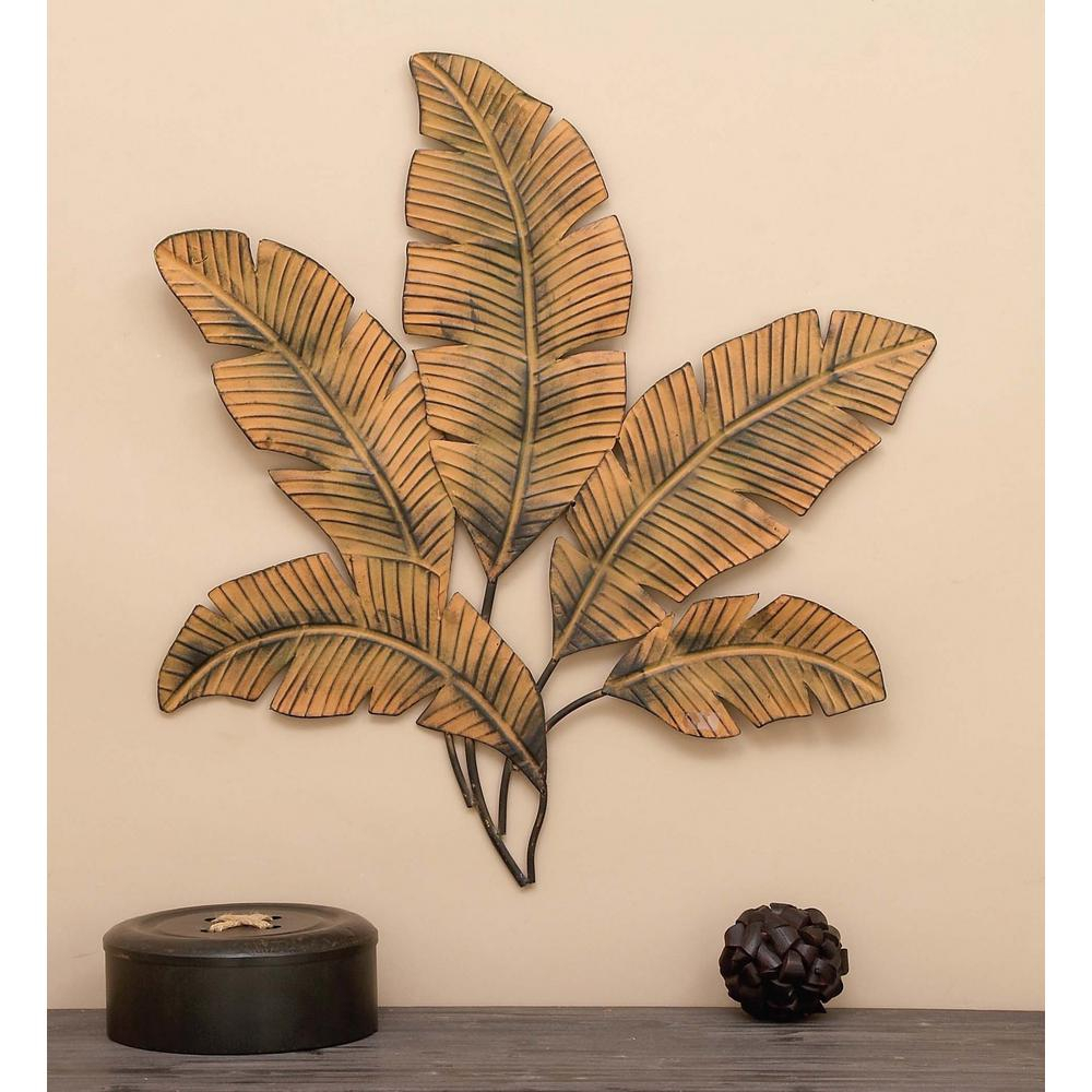 In X Iron Palm Leaves Wall Decor The Home Depot Liniment Dit with Desford Leaf Wall Decor (Image 15 of 30)