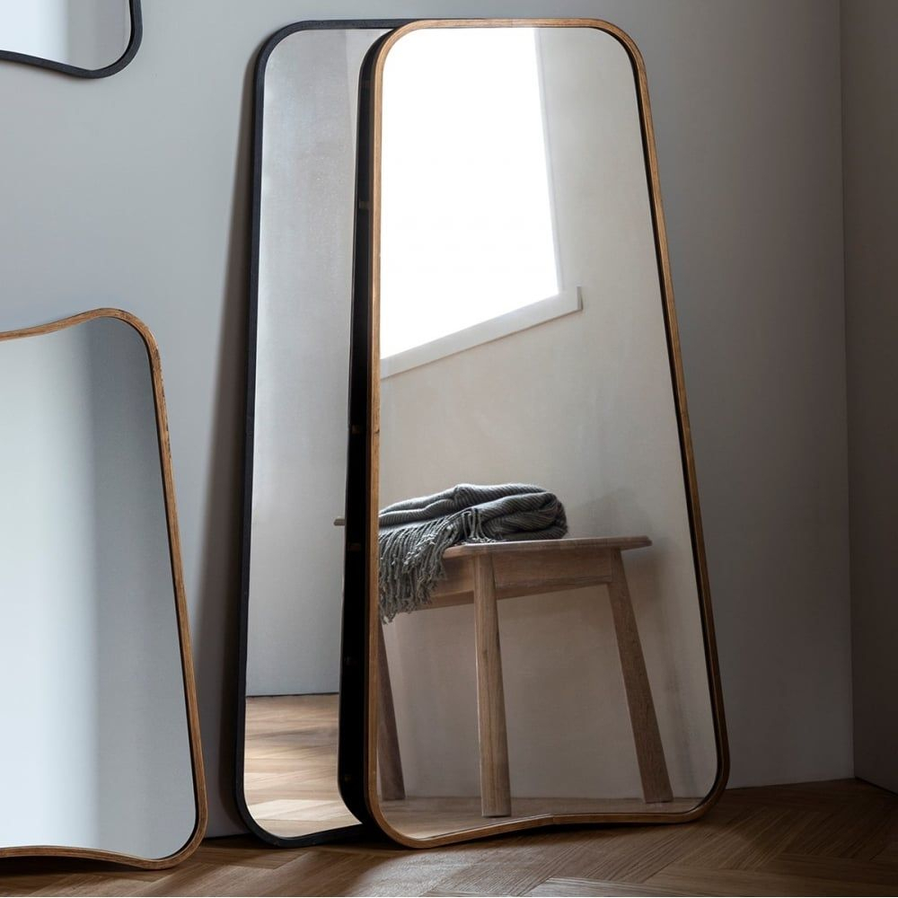 Inca Contemporary Full Length Leaner Mirror, Gold | Mirror In Modern & Contemporary Full Length Mirrors (View 15 of 30)