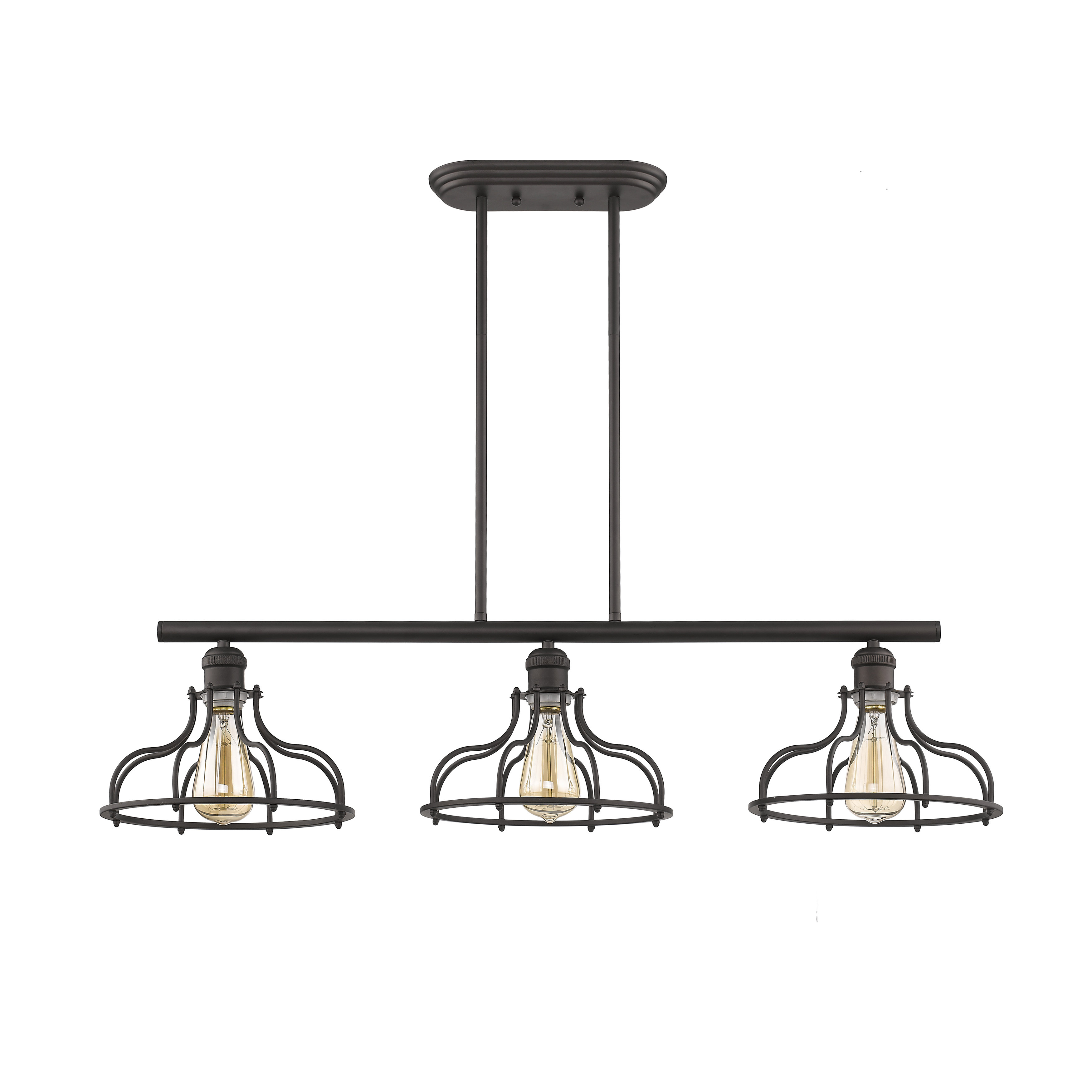 Industrial Farmhouse Lighting | Wayfair With Regard To Akash Industrial Vintage 1 Light Geometric Pendants (View 12 of 30)