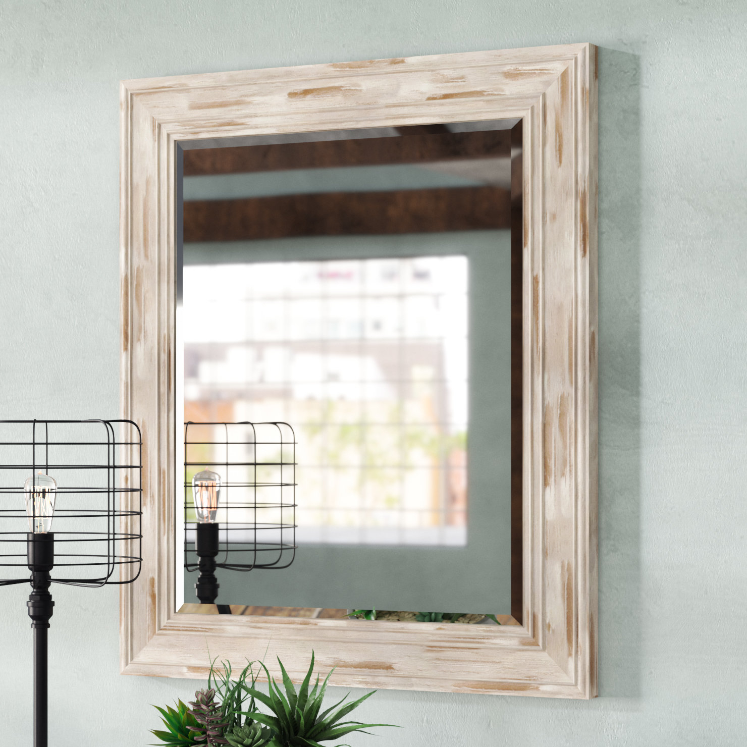 Industrial Mirrors You'll Love In 2019 | Wayfair.ca in Bartolo Accent Mirrors (Image 17 of 30)
