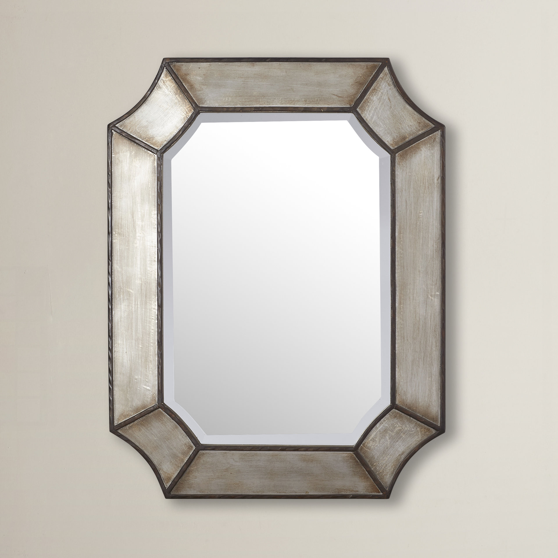 Industrial Wall & Accent Mirrors | Birch Lane in Koeller Industrial Metal Wall Mirrors (Image 11 of 30)