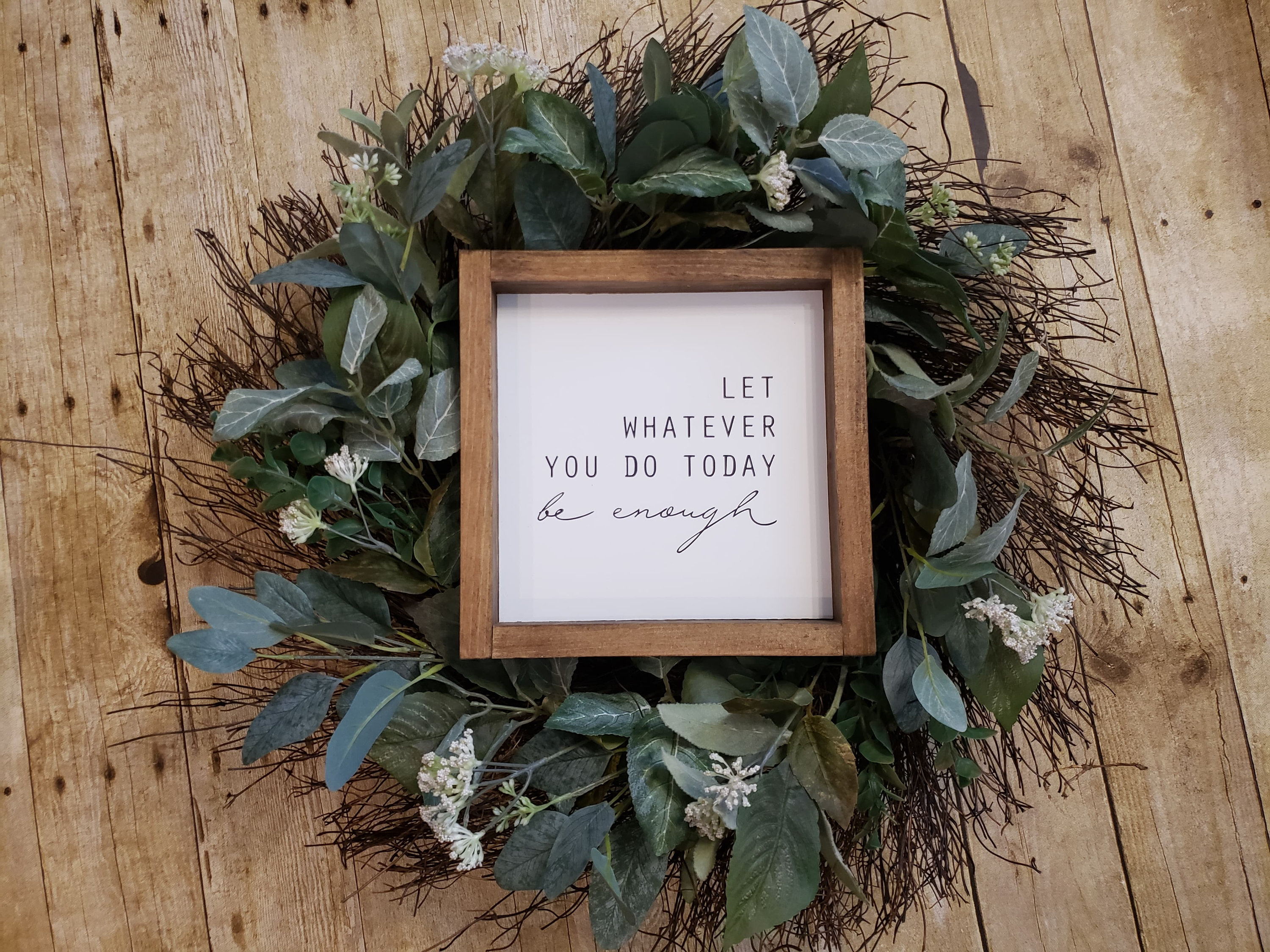 Inspirational Signs, Inspirational Gifts, Inspirational Art, Inspire Sign,  Motivation Sign, Inspire Decor, Uplifting Sign, Inspire Wall Art with regard to Let Whatever You Do Today Be Enough Wood Wall Decor (Image 12 of 30)