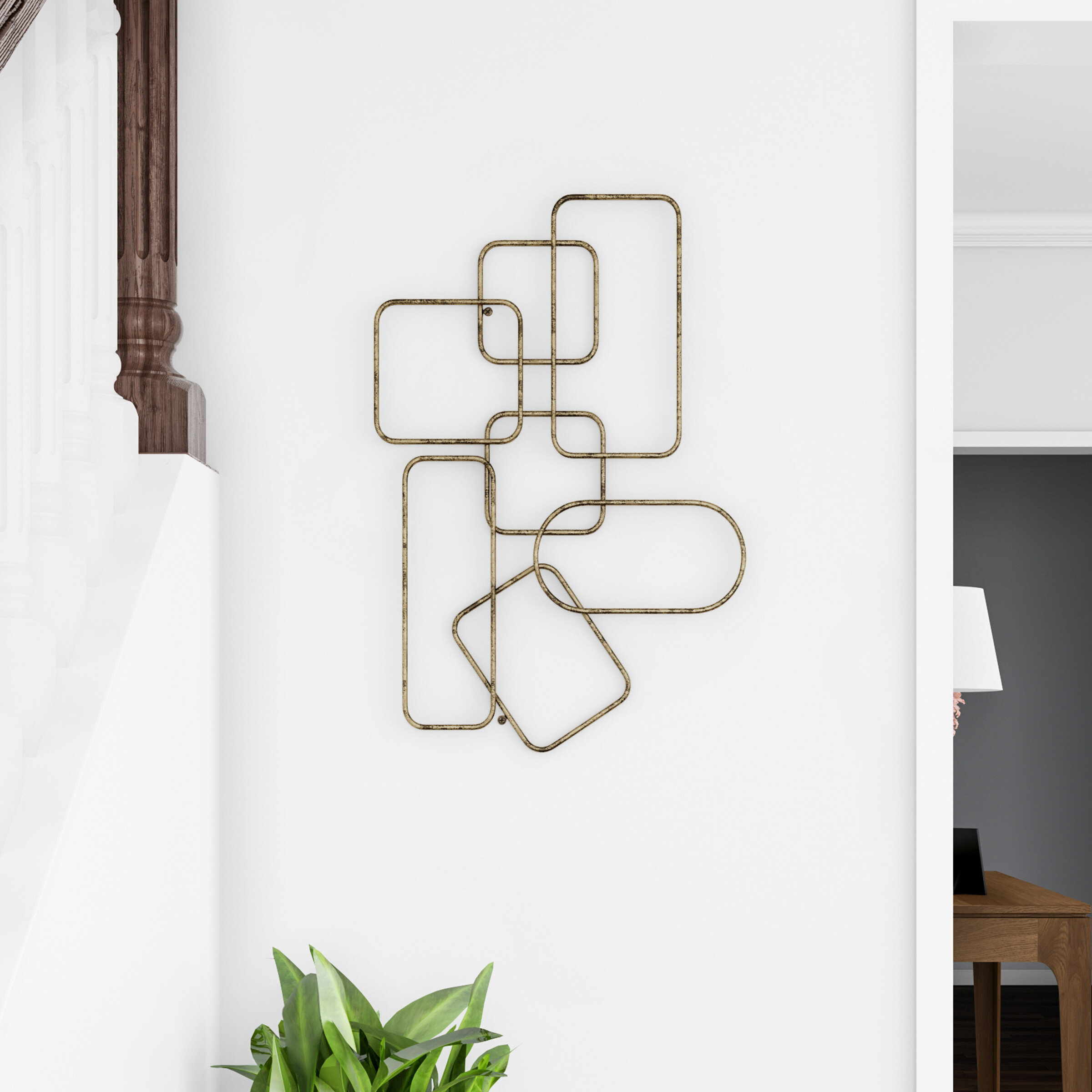 Interlocking Squares Metal Wall Décor Regarding Rings Wall Decor By Wrought Studio (View 16 of 30)