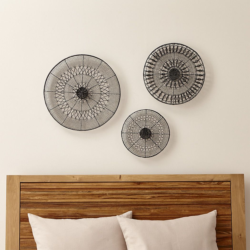Intricate Circle Metal Wall Art 3-Piece Set In 2019 | Guest intended for 4 Piece Handwoven Wheel Wall Decor Sets (Image 22 of 30)
