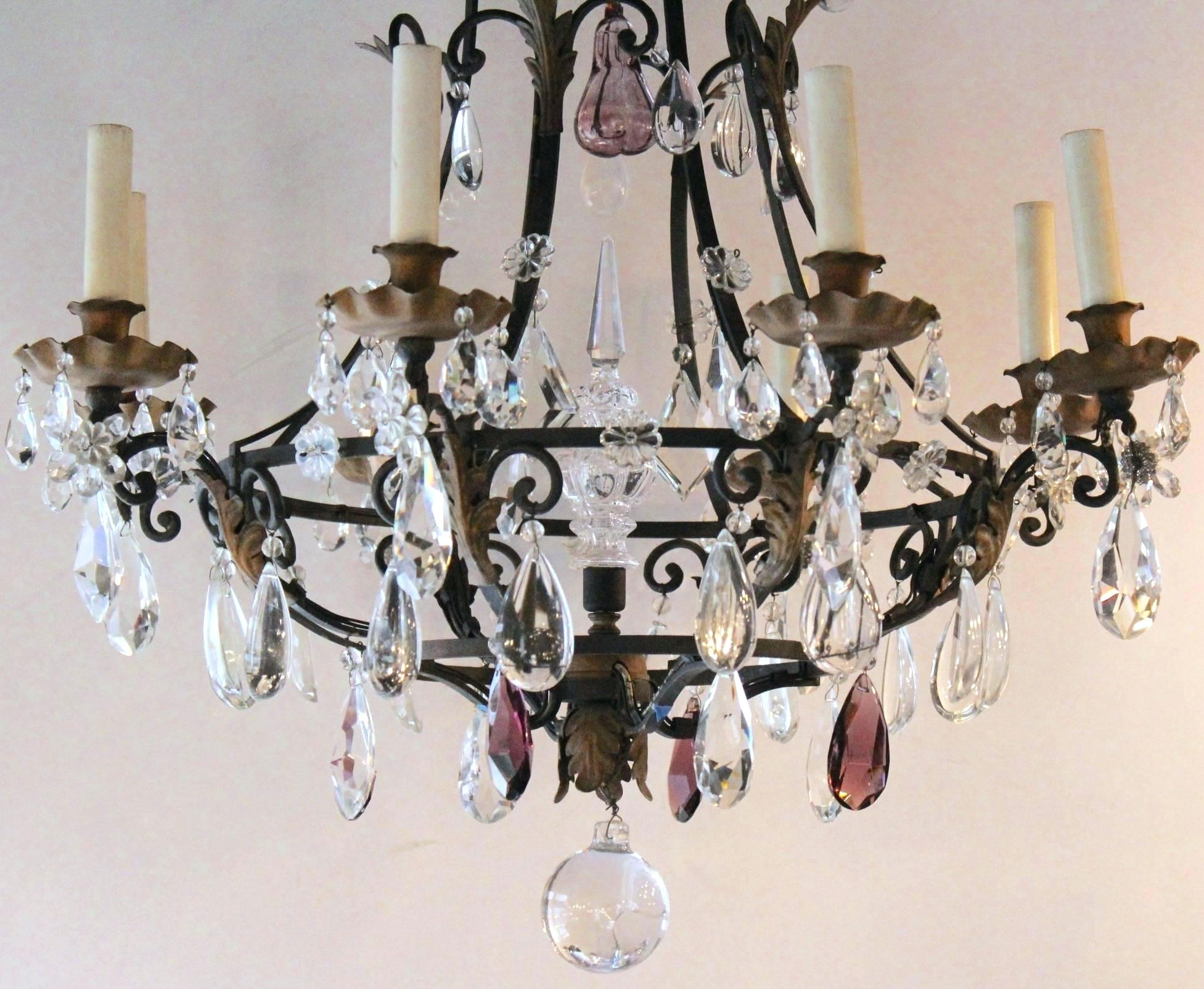 Iron And Crystal Chandelier – Tommyboger (Image 17 of 30)