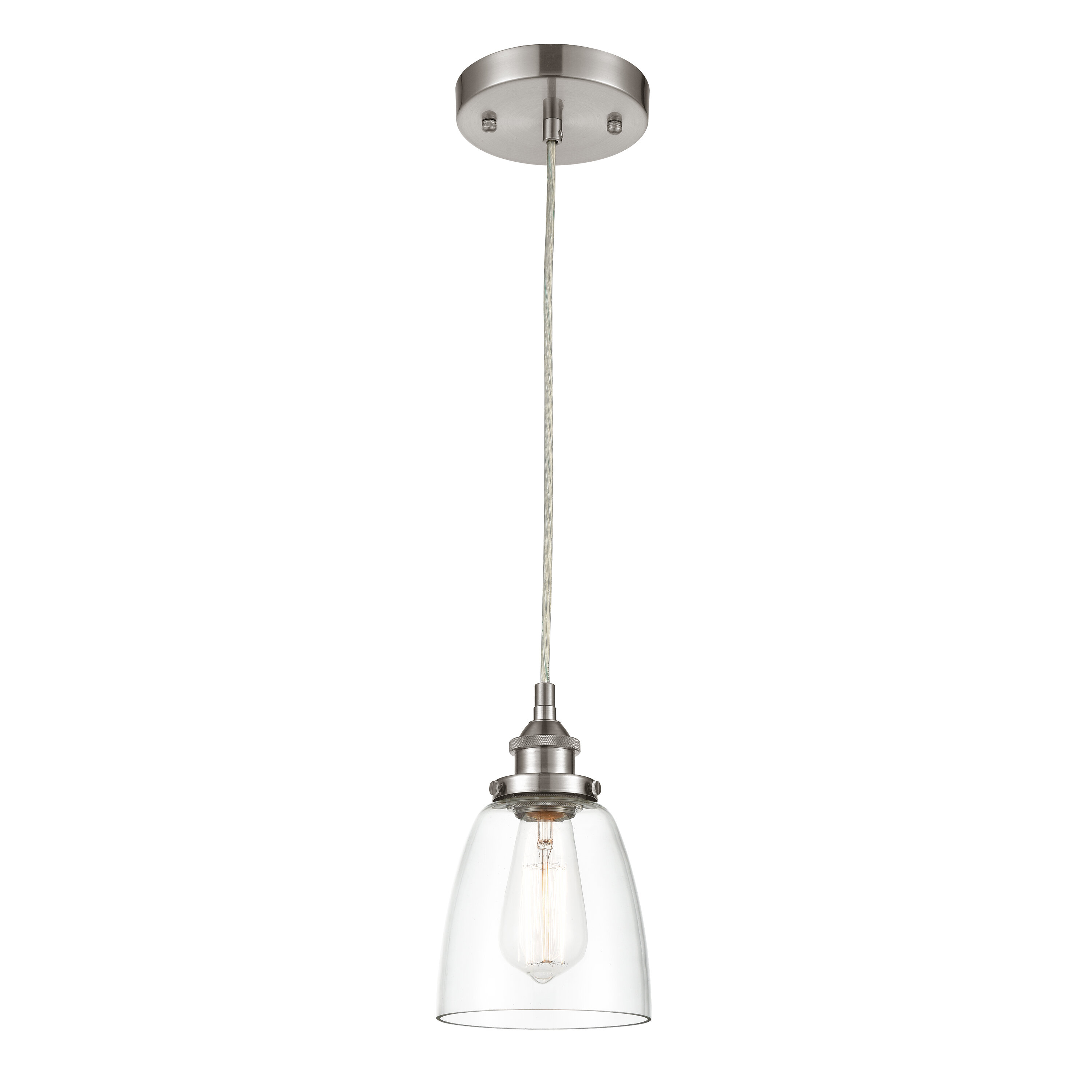 Iron Gate 1 Light Single Bell Pendant In Houon 1 Light Cone Bell Pendants (View 11 of 30)