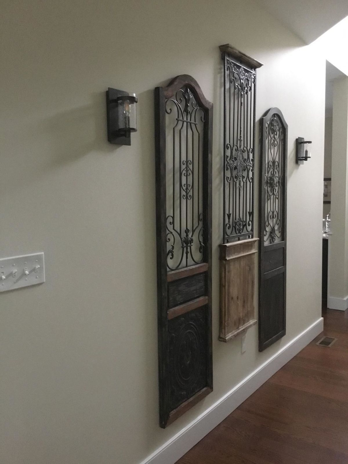 Iron Scroll Work Wood Wall Decor Garden Rustic Arched inside Scroll Panel Wall Decor (Image 17 of 30)