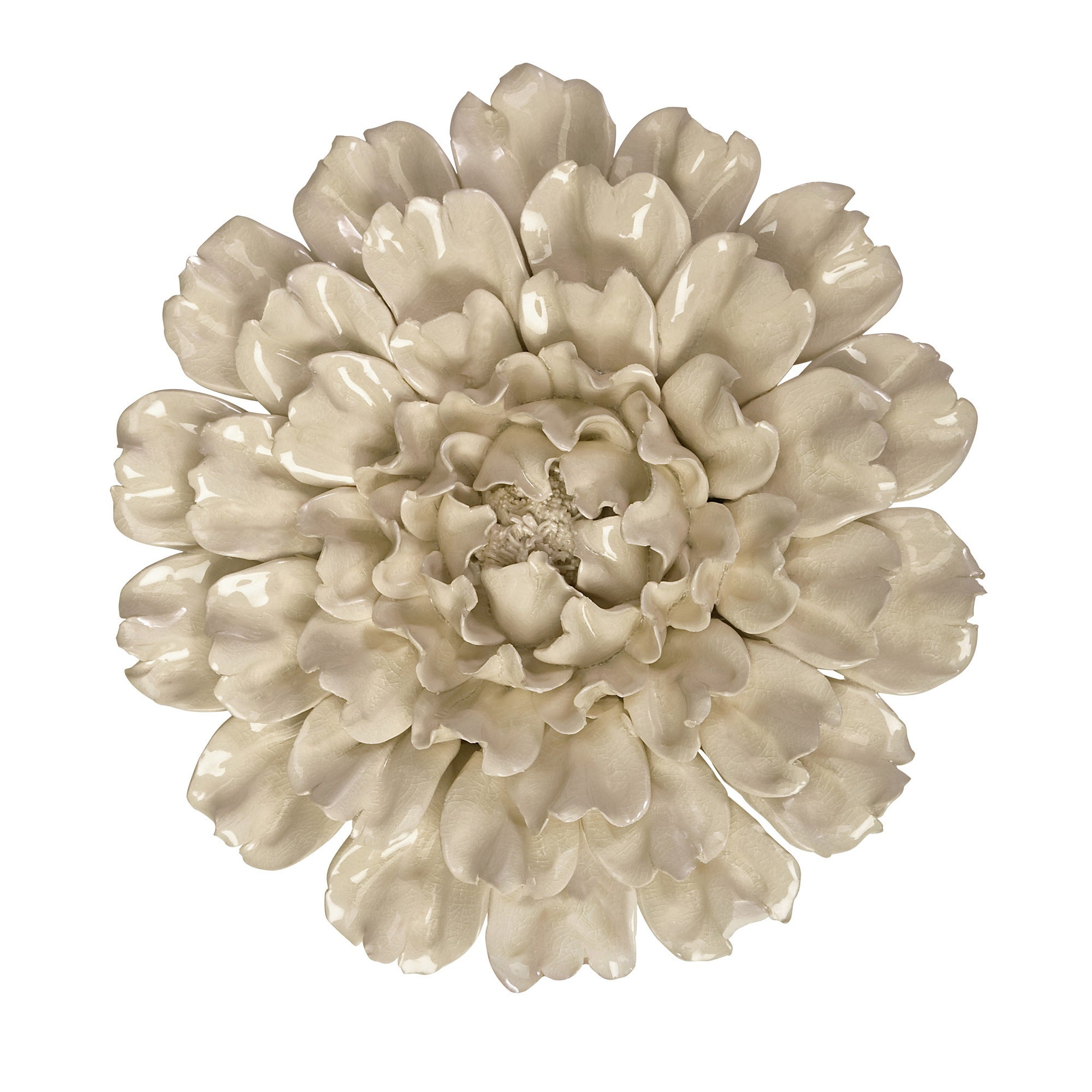 Isabella Large Ceramic Flower Wall Decor In Three Flowers On Vine Wall Decor (View 9 of 30)