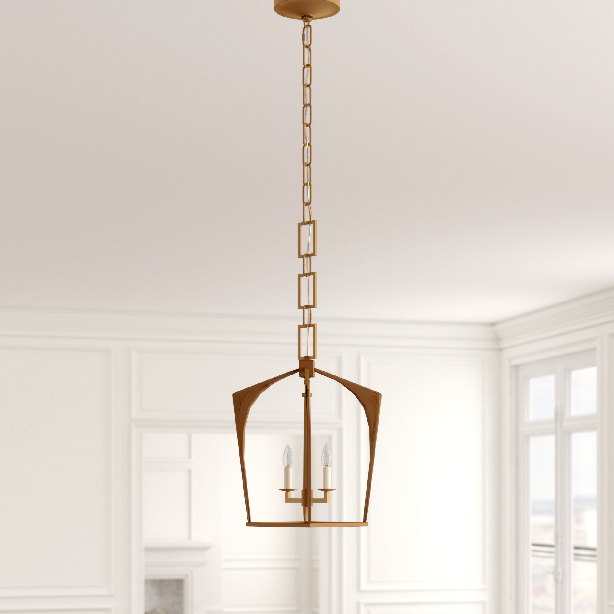 Isoline 2-Light Lantern Geometric Pendant with regard to Isoline 2-Light Lantern Geometric Pendants (Image 16 of 30)