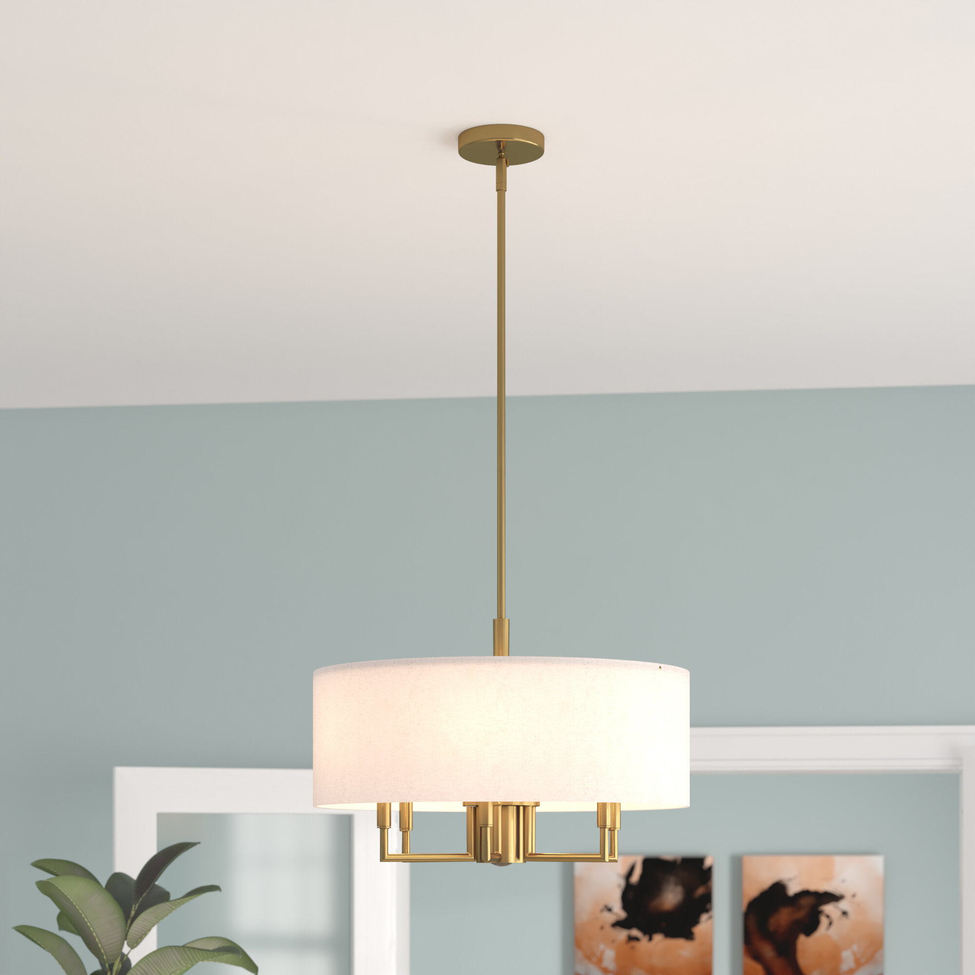 Ivy Bronx Alina 6 Light Drum Chandelier & Reviews | Wayfair Throughout Alina 5 Light Drum Chandeliers (View 6 of 30)